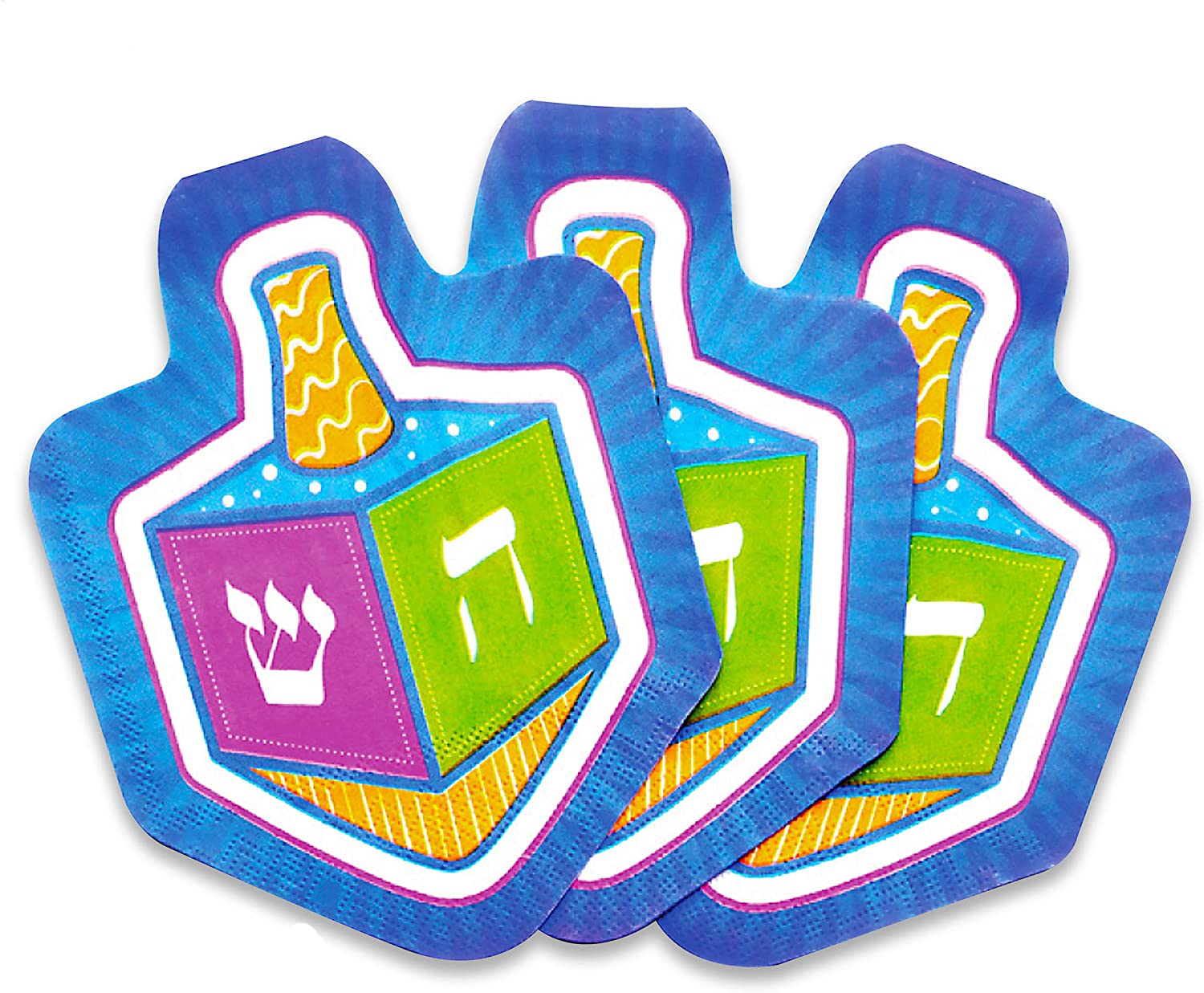 Chanuka Dreidel Napkins - 10 pack