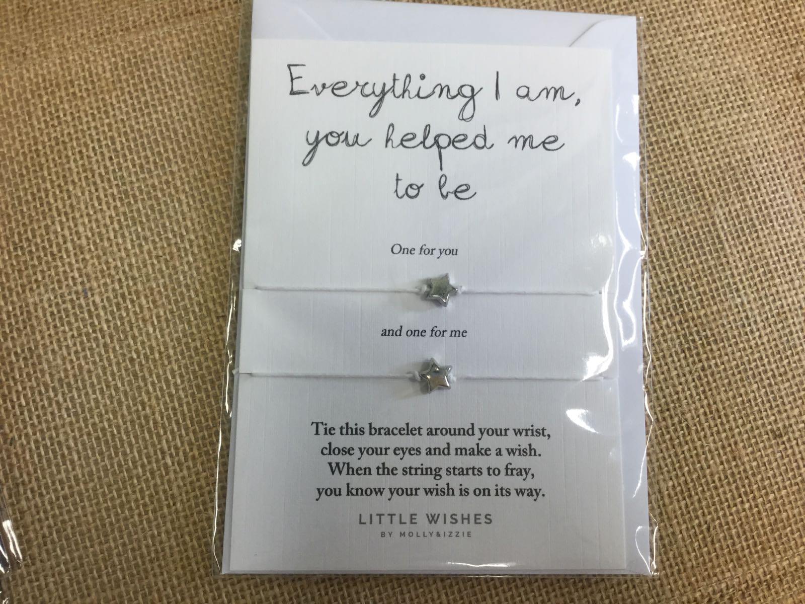 Everything I am  wish bracelet