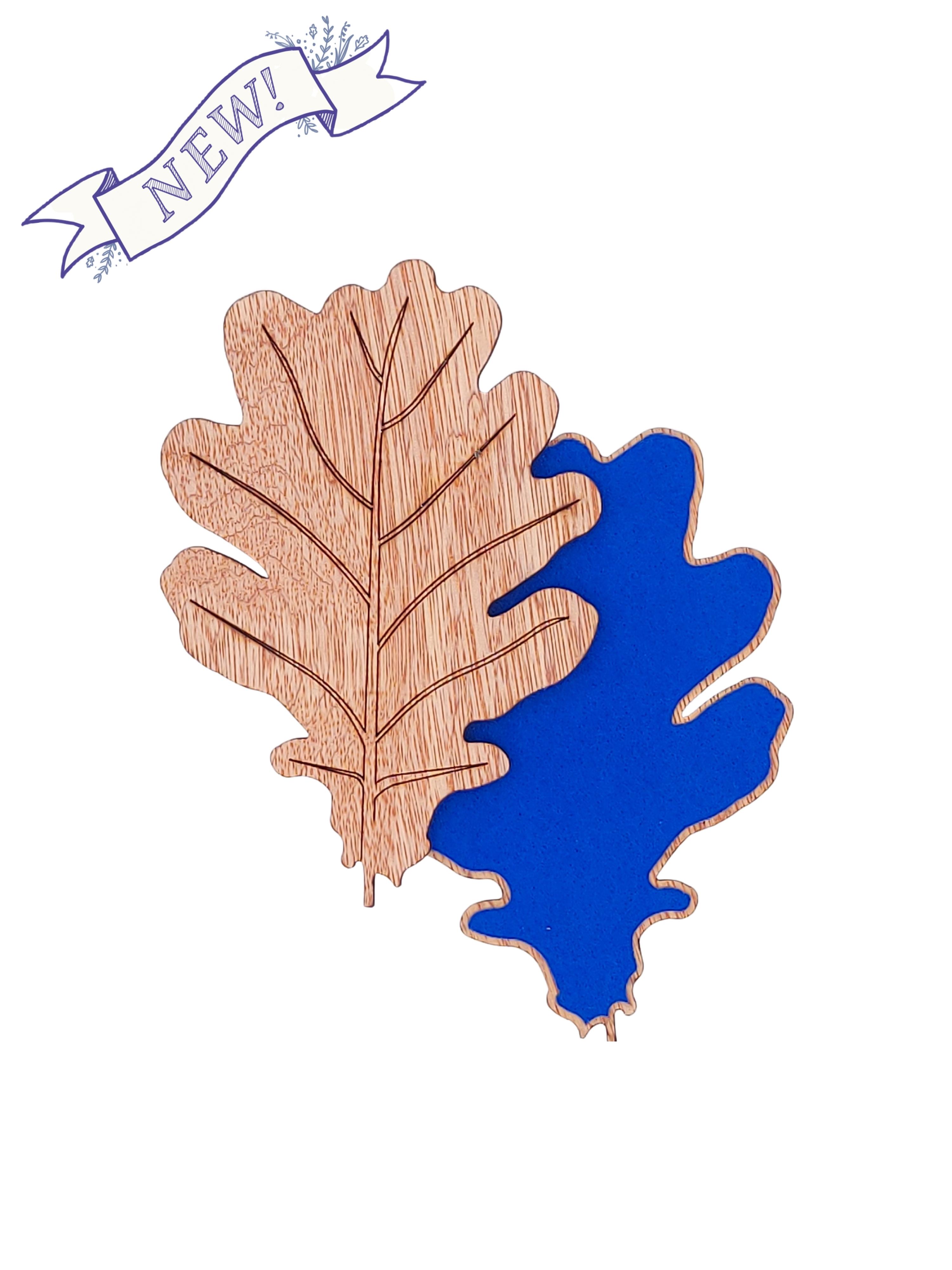 Oak Leaf Coaster