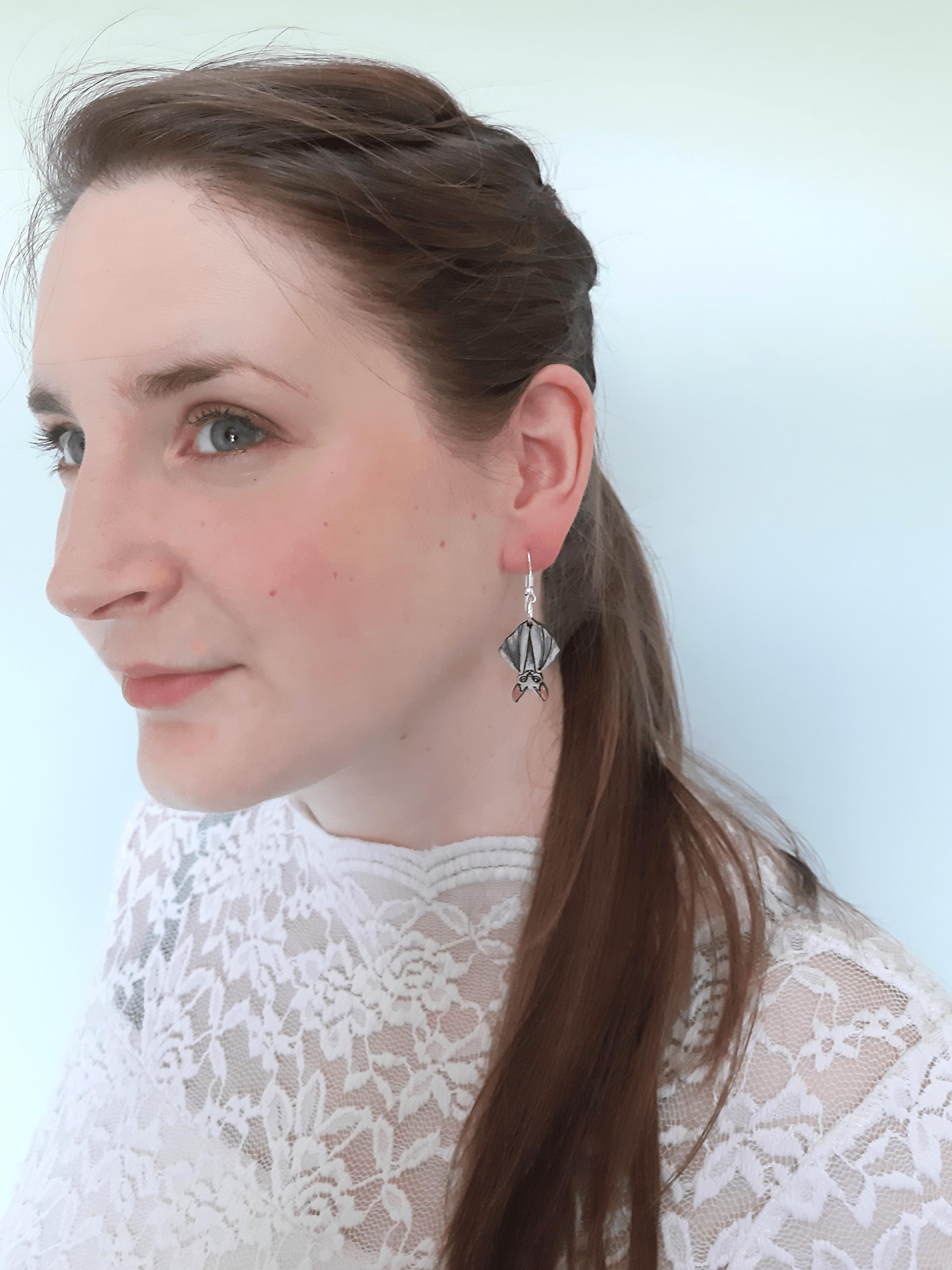Bat - Drop Earring