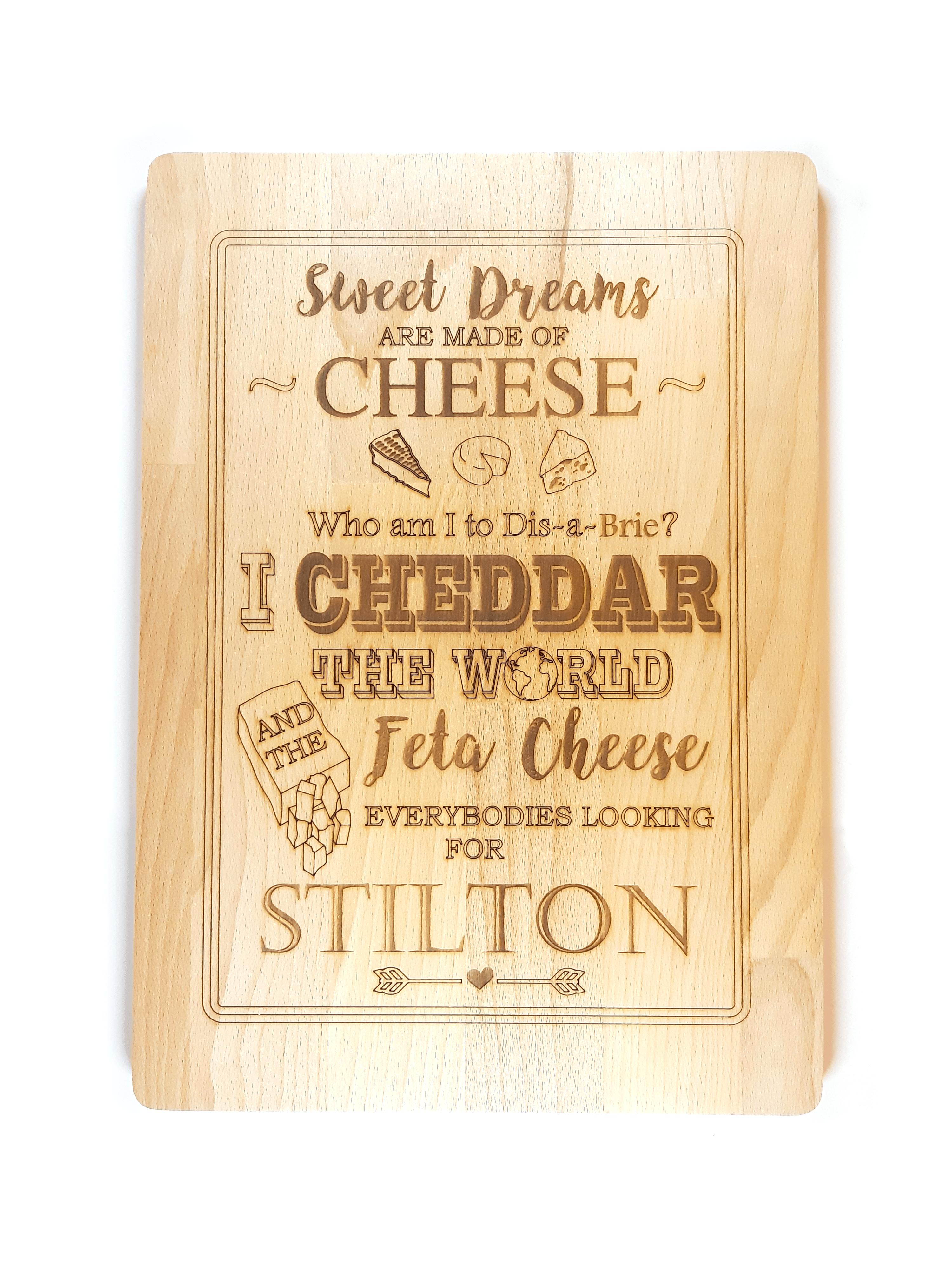 """Cheesy Songs"" Cheeseboard"