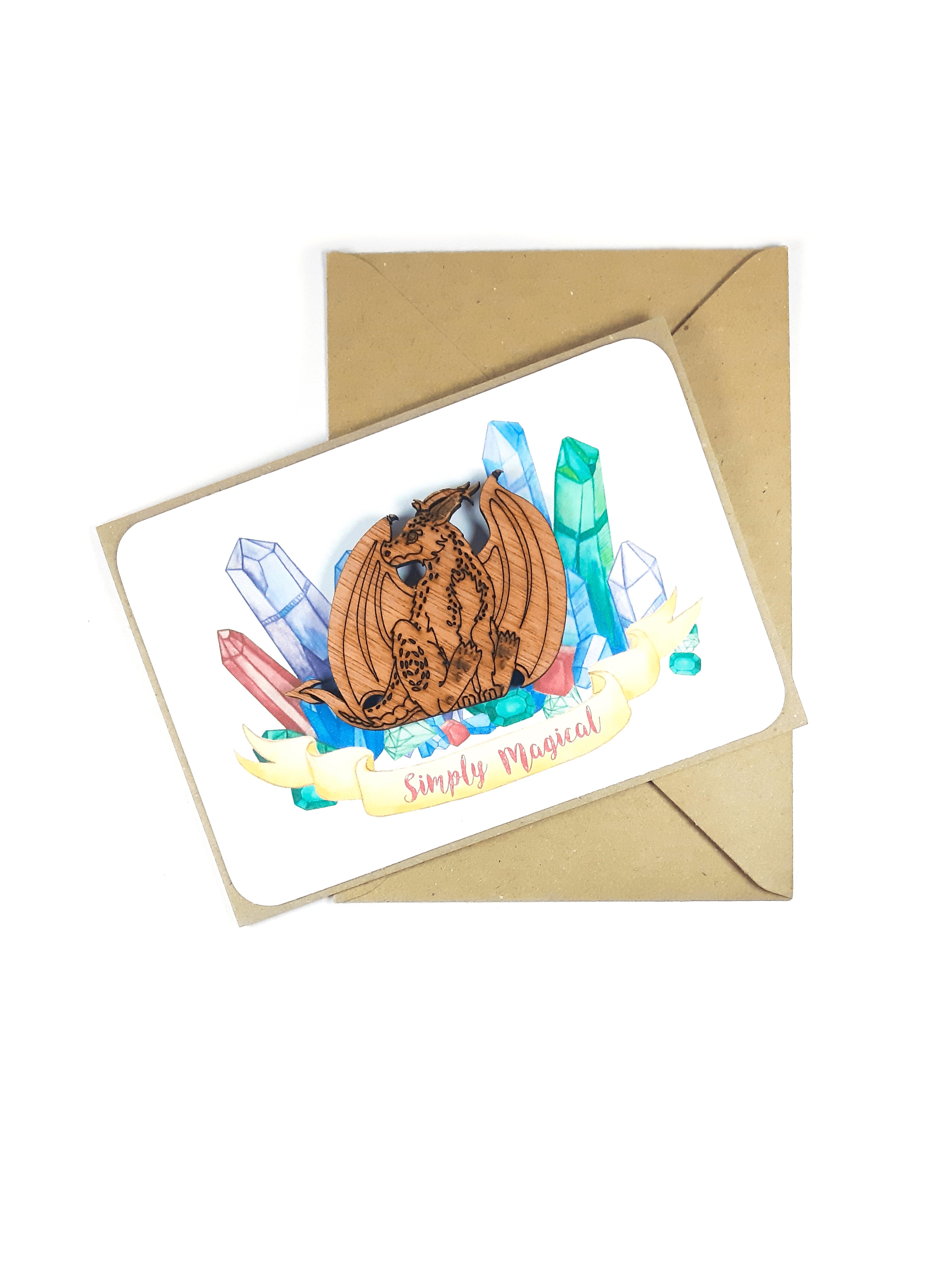 Fluffy Dragon Magnet Card