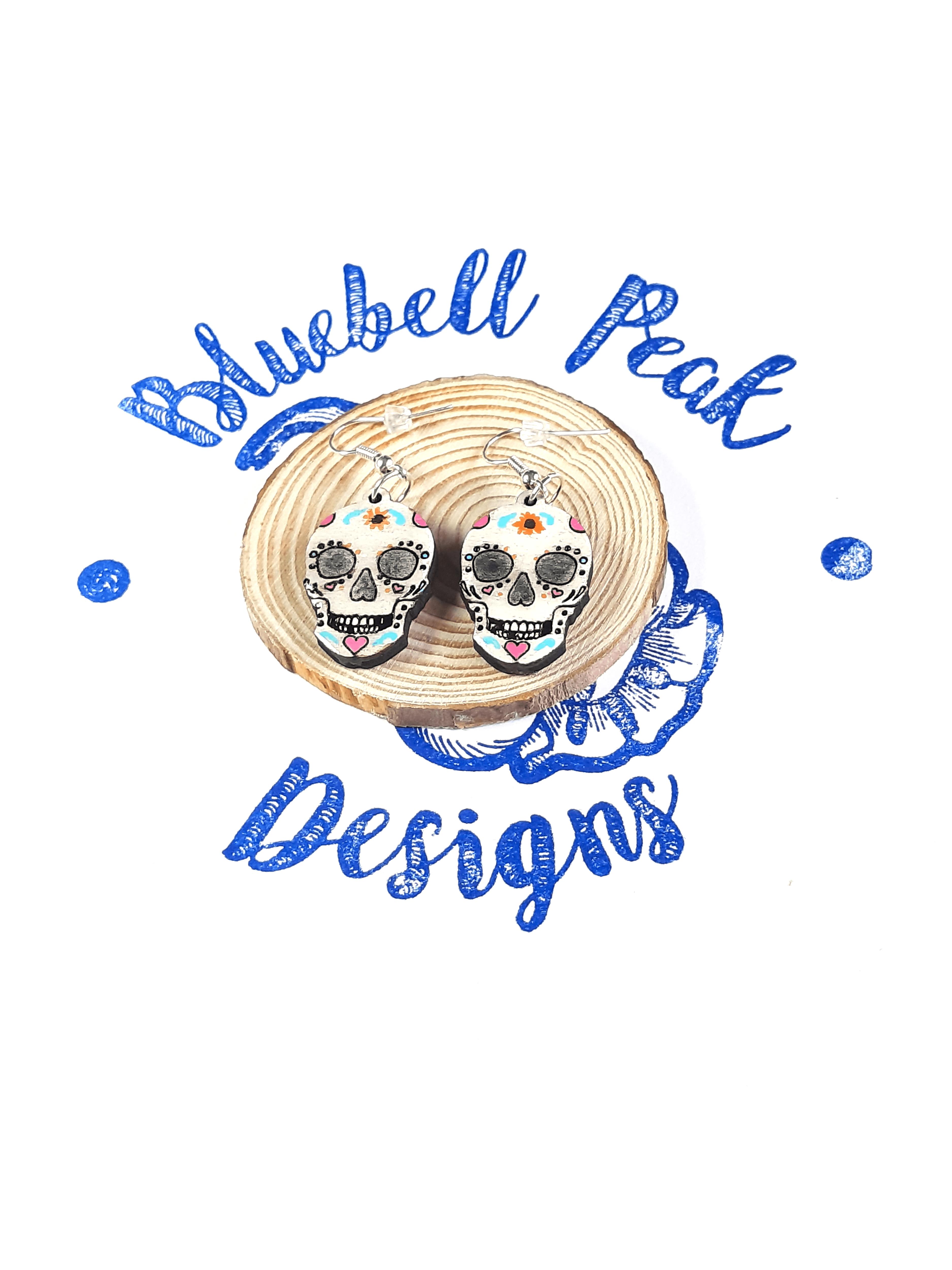 Sugar Skull - Drop Earrings
