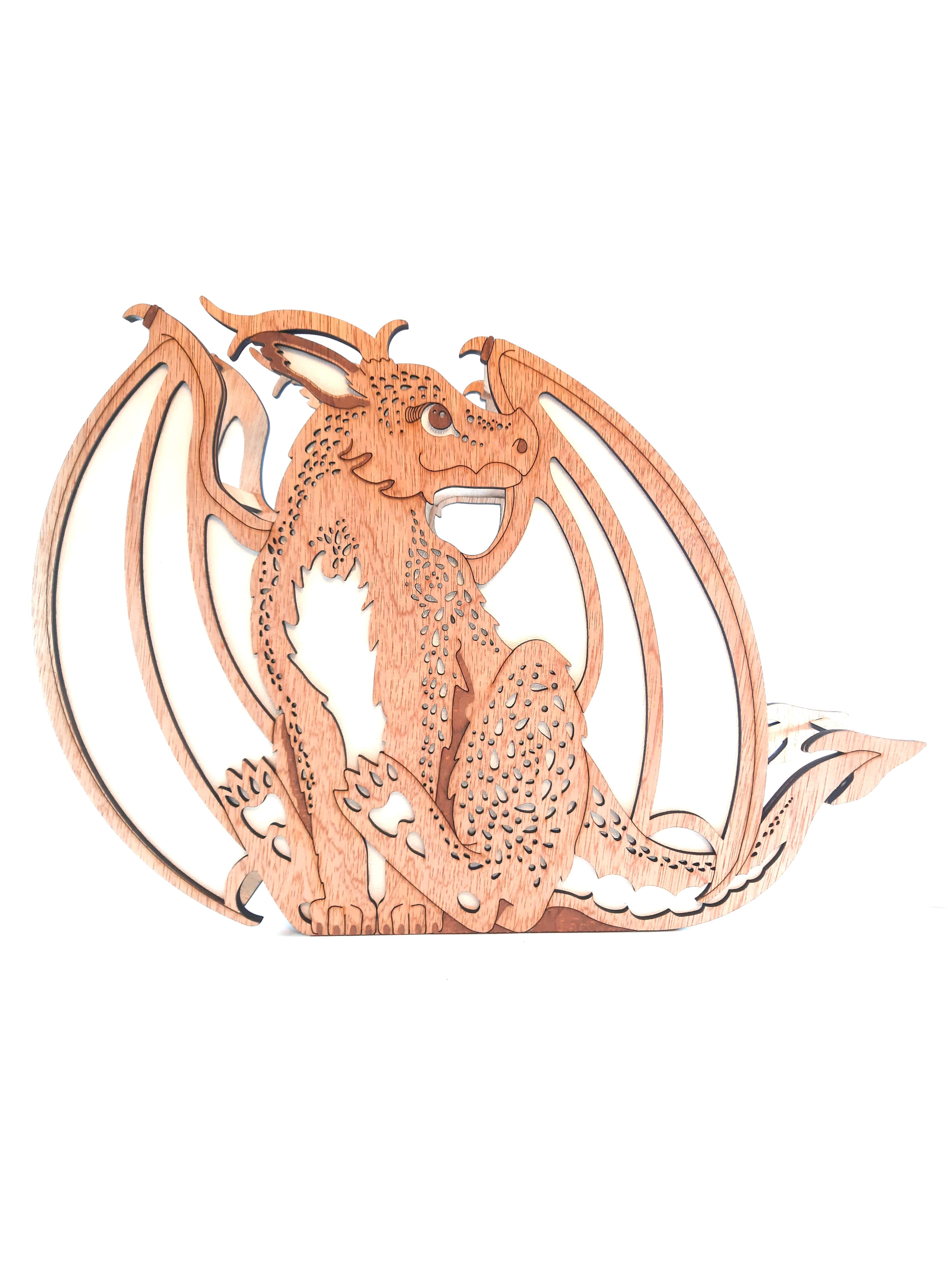 Fluffy Dragon, Lamp