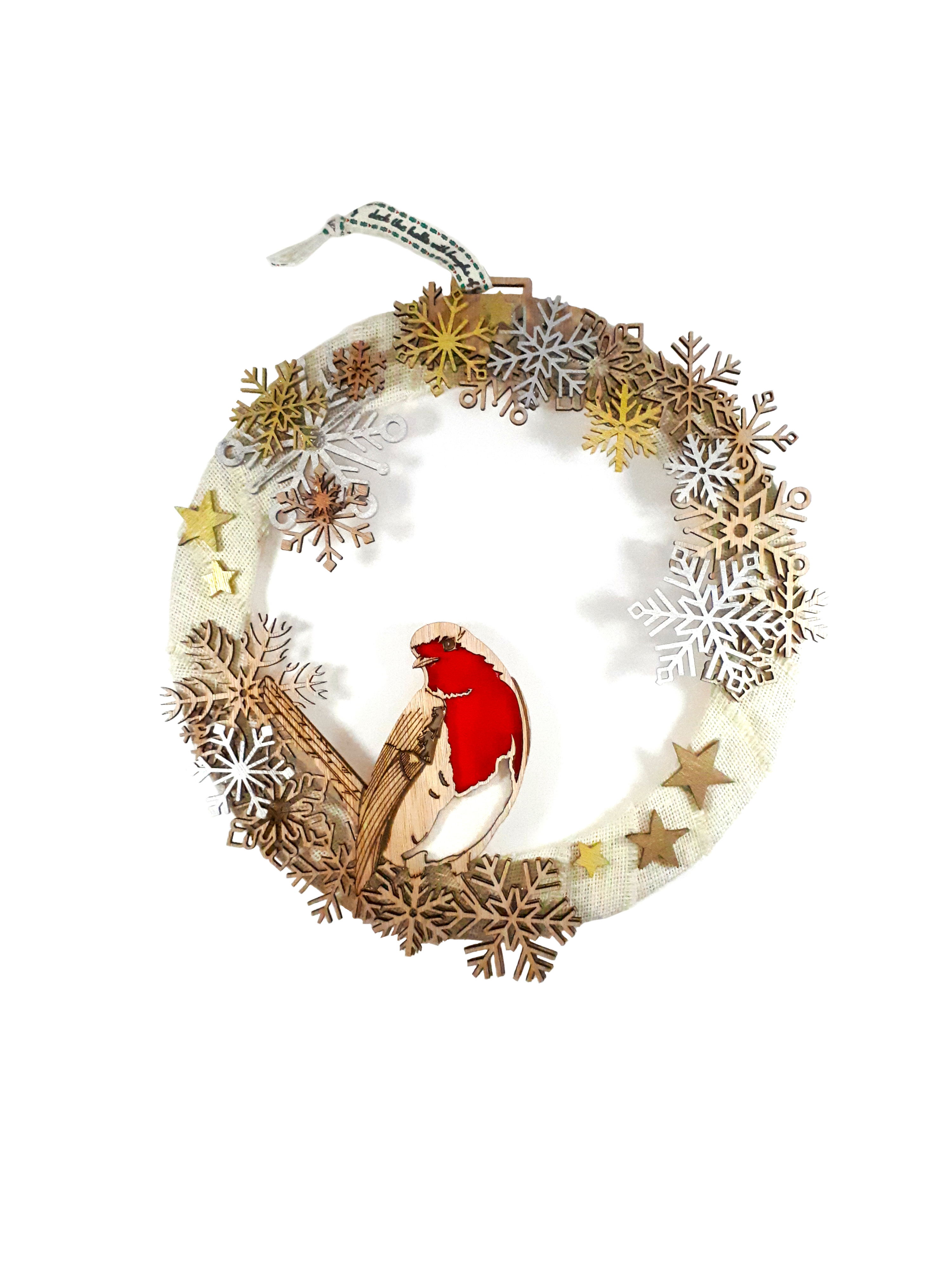 Robin Christmas Wreath