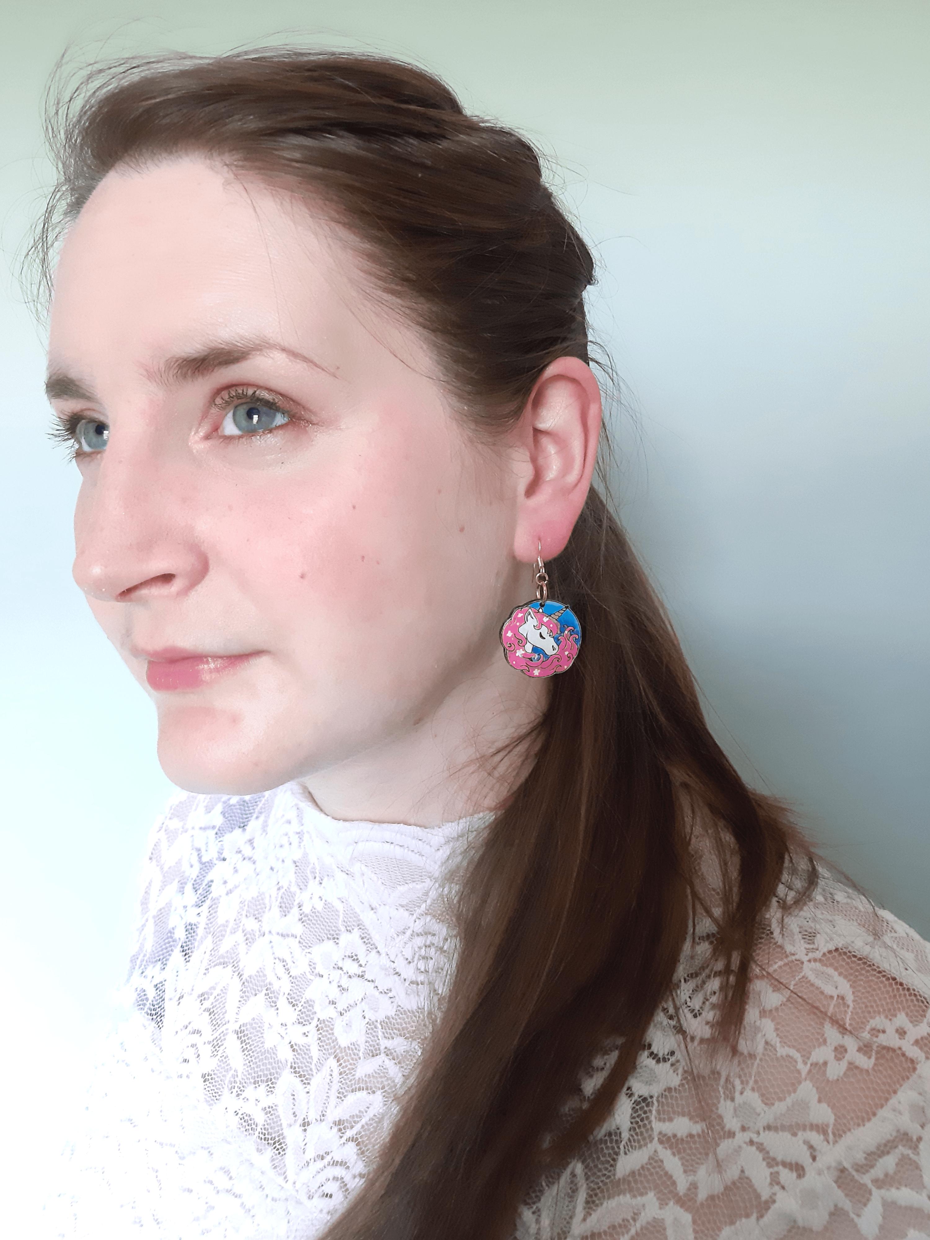 Unicorn - Drop Earrings