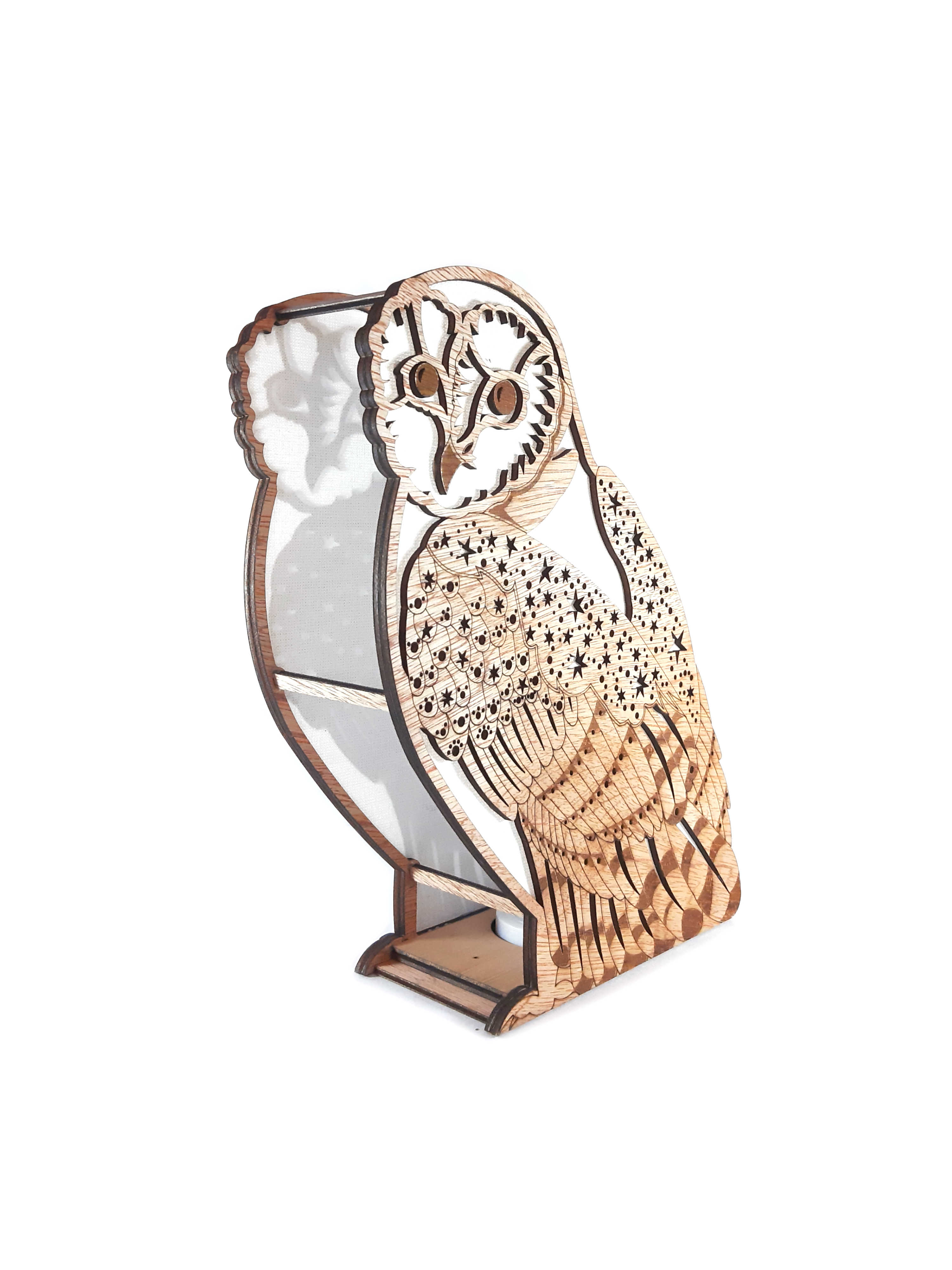 Starry Barn Owl, Lamp