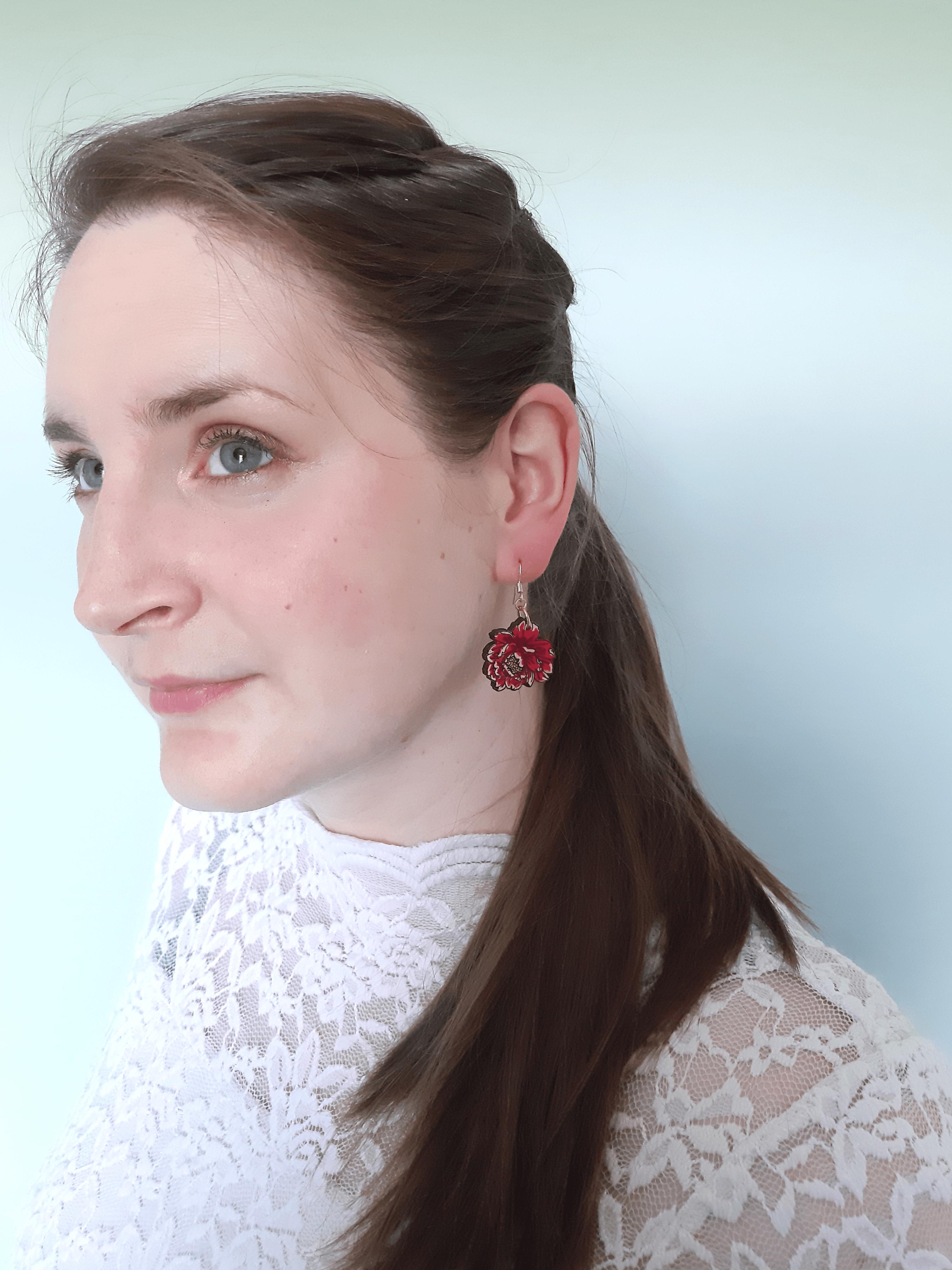 Peony - Drop Earring