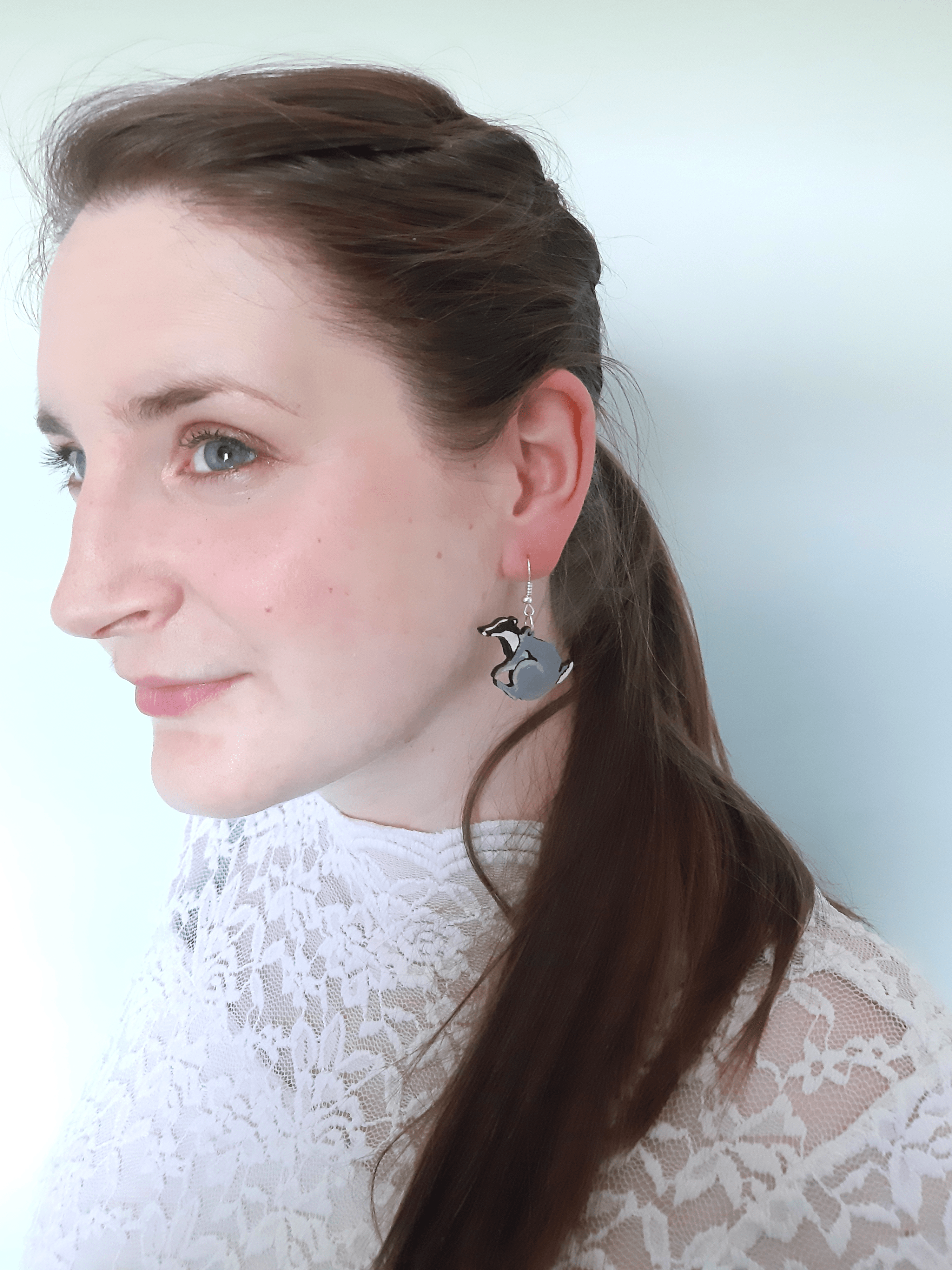 Badger - Drop Earrings