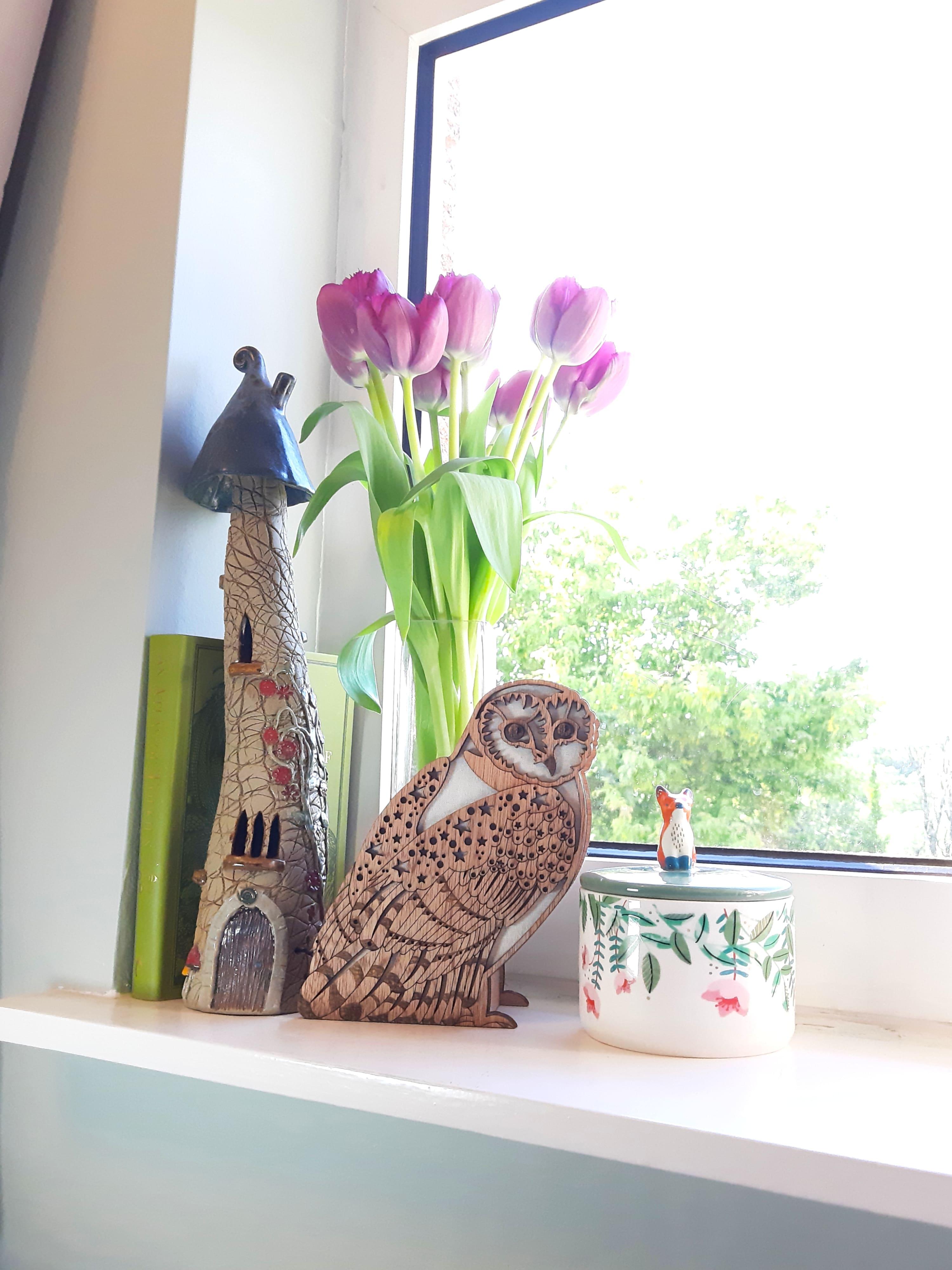 Starry Barn Owl, Vase