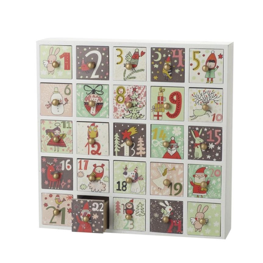 Retro Vintage Boxes Advent Countdown
