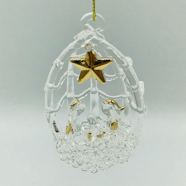 Glass Nativity Hanging