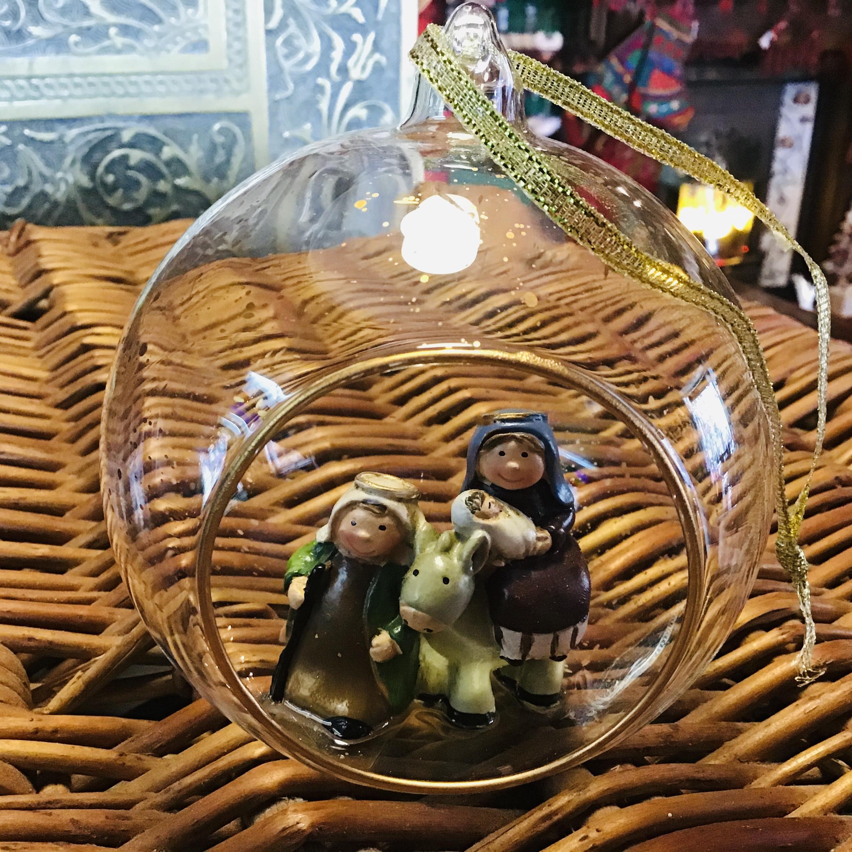 Nativity Glass Bauble