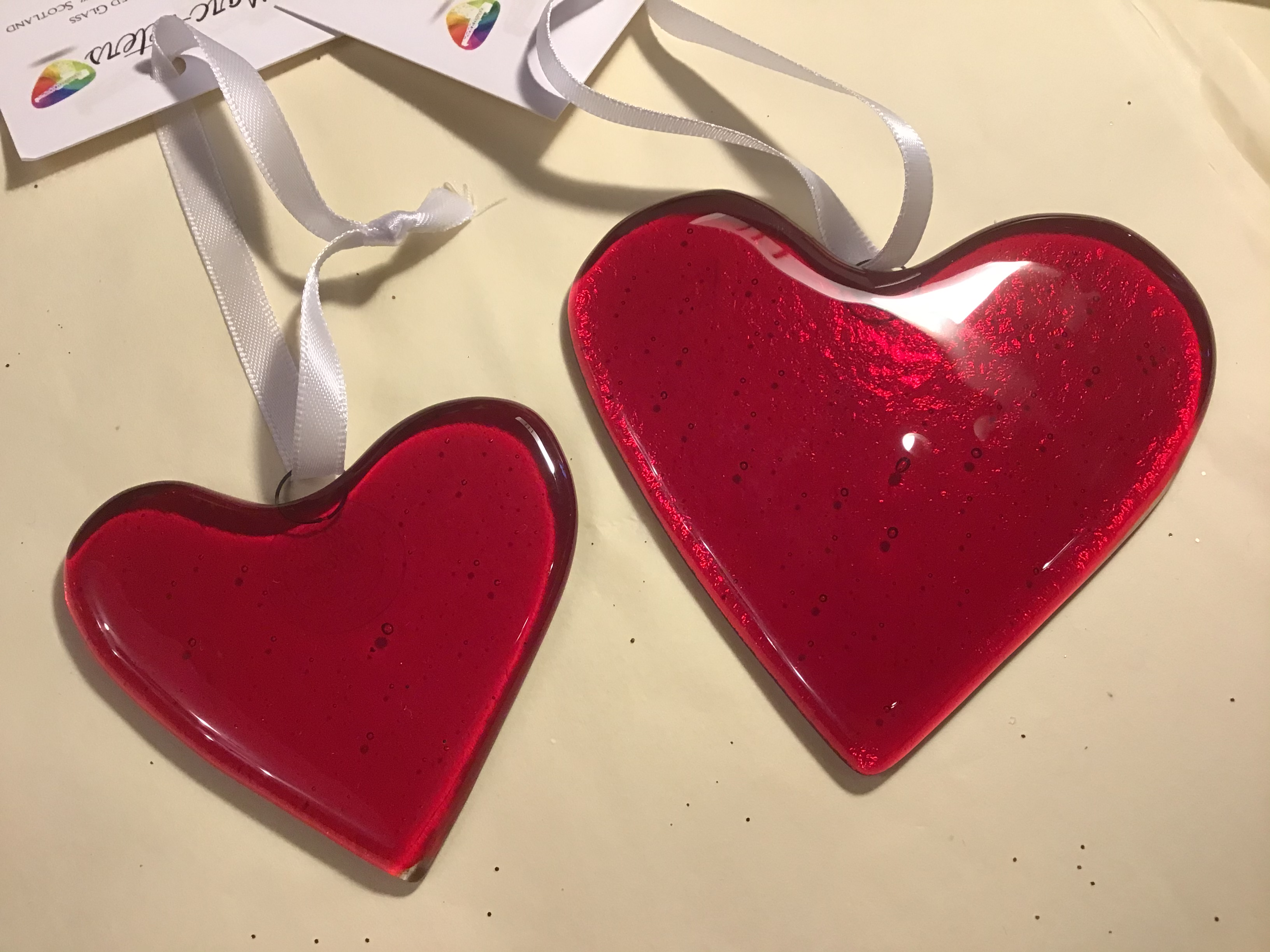 Fused Glass Large Heart