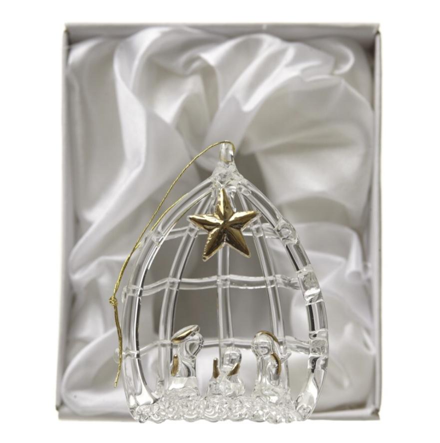 Glass Nativity Boxed