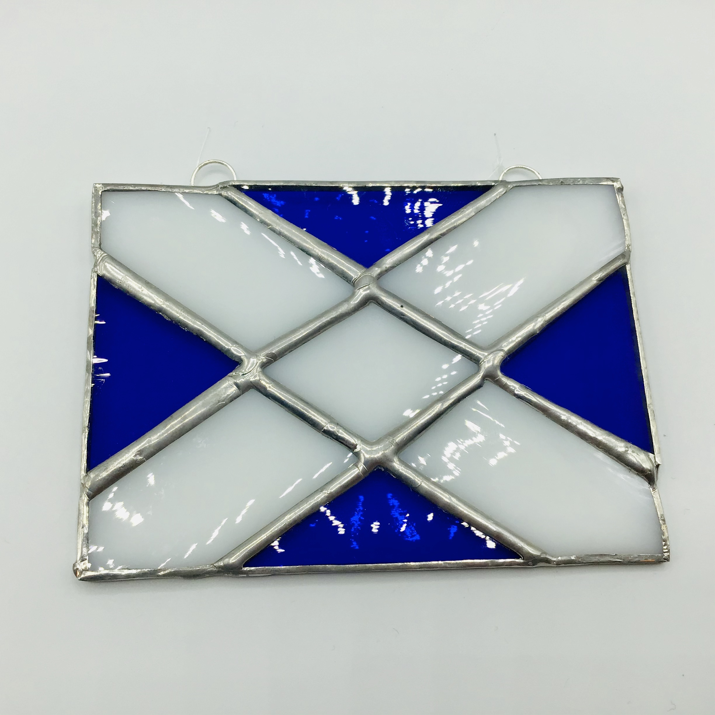 Stained Glass Saltire Flag