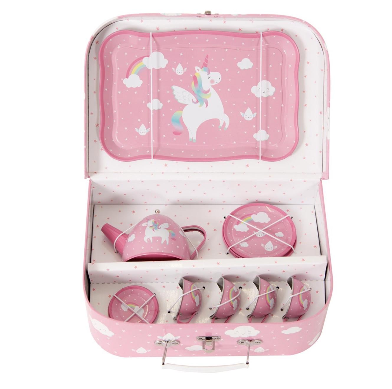 Unicorn Tea Set in carry case