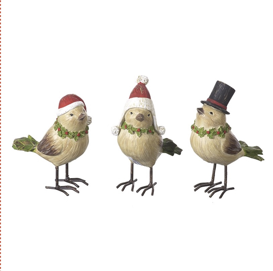 Birds in hats Set of Three