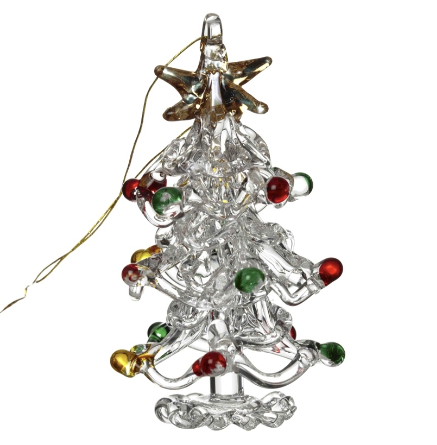 Hanging Glass Xmas Tree Colour Baubles