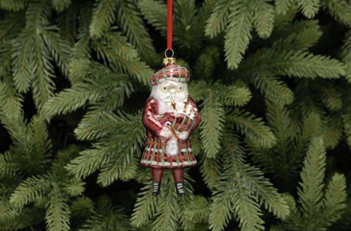 glass piper scottish santa
