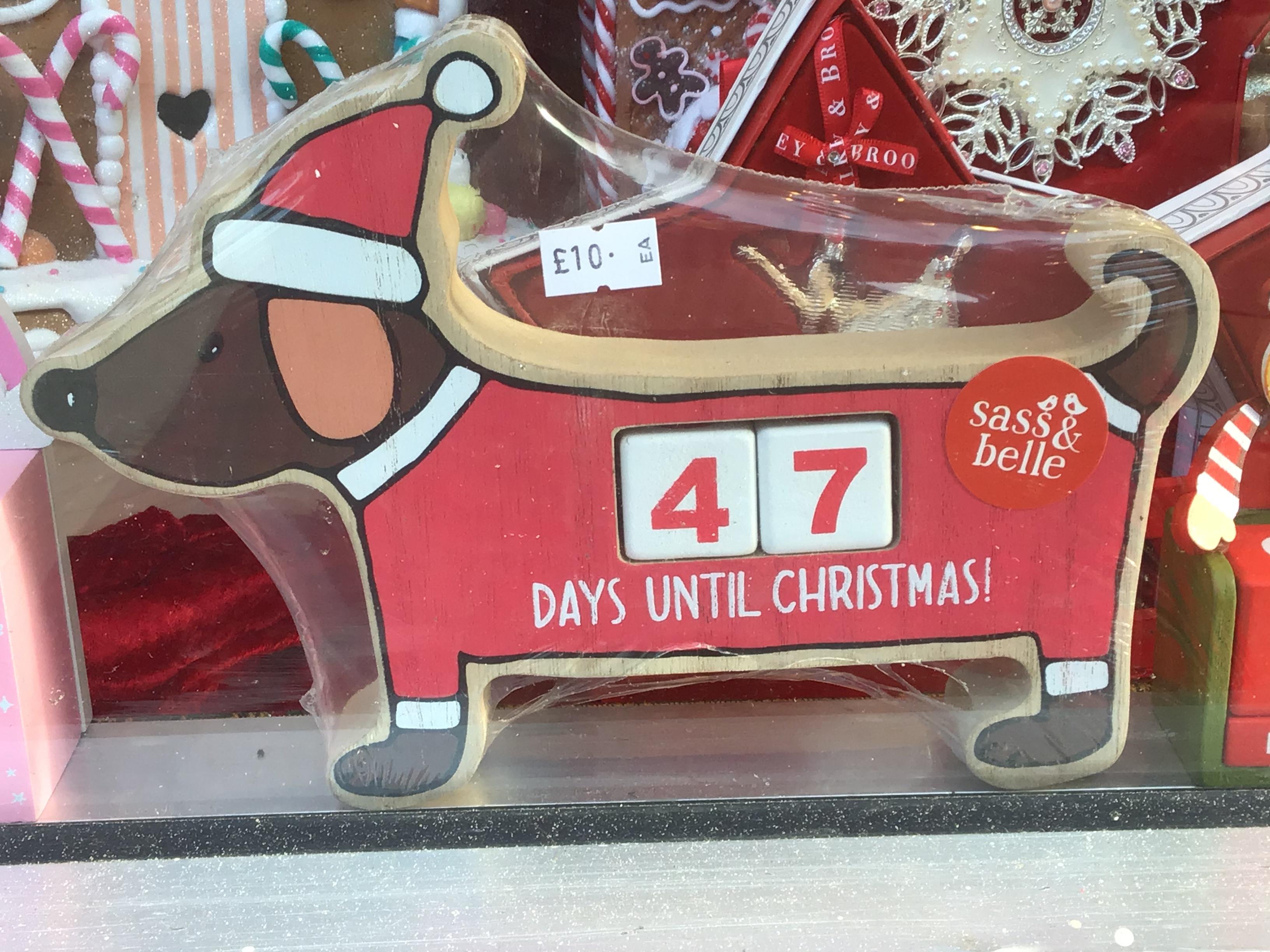 Sausage Dog Advent Countdown