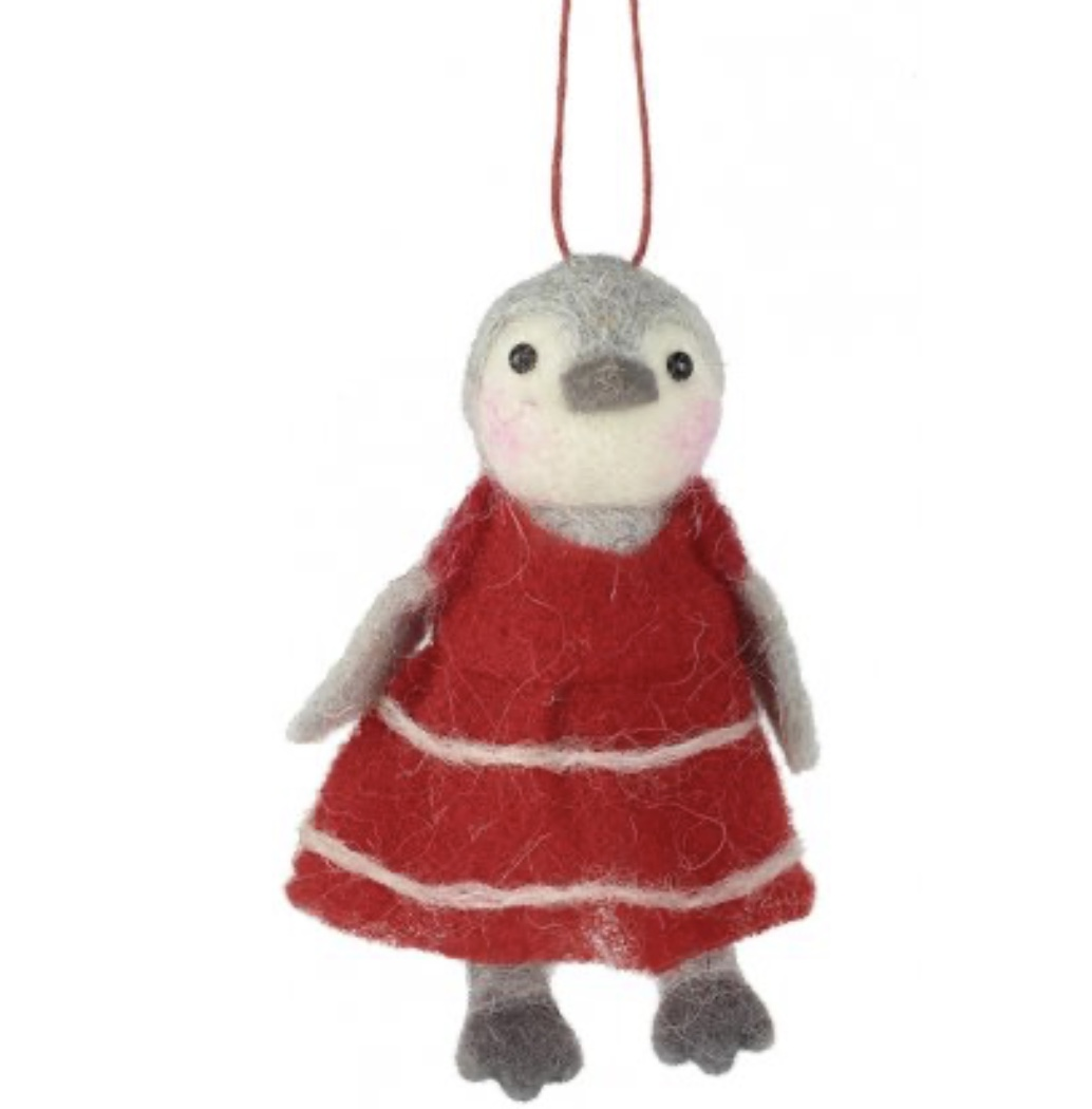 Pinga Penguin in Red Dress