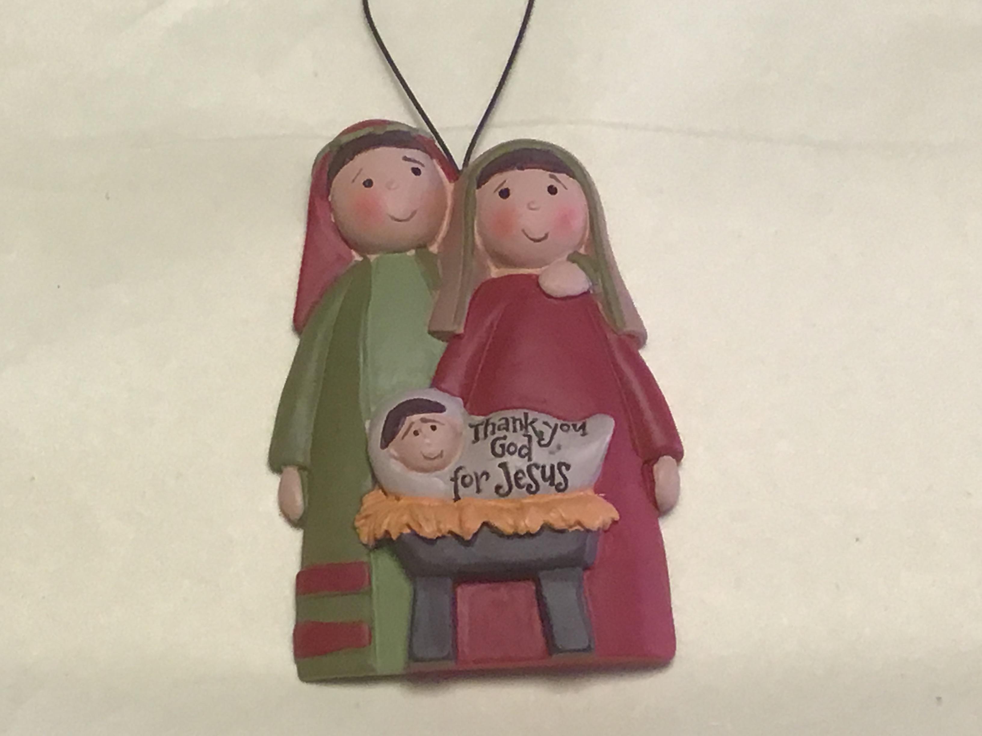 Hanging Resin Nativity