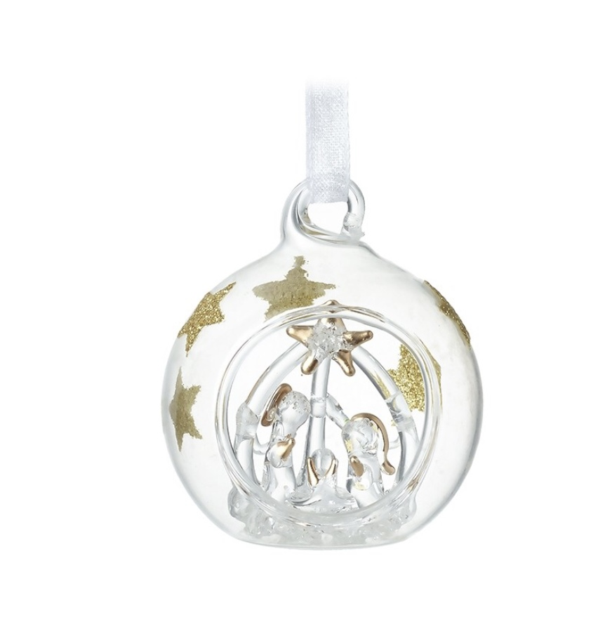 Small Glass Nativity Bauble