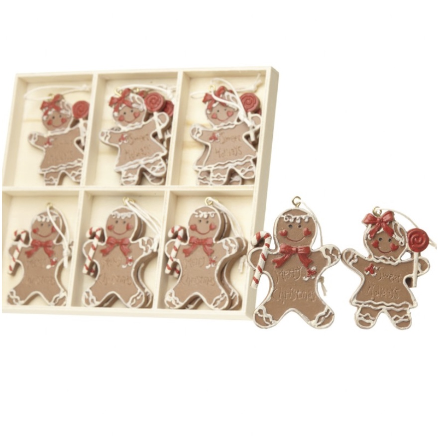 Gingerbread Boys & Girls Set of 12