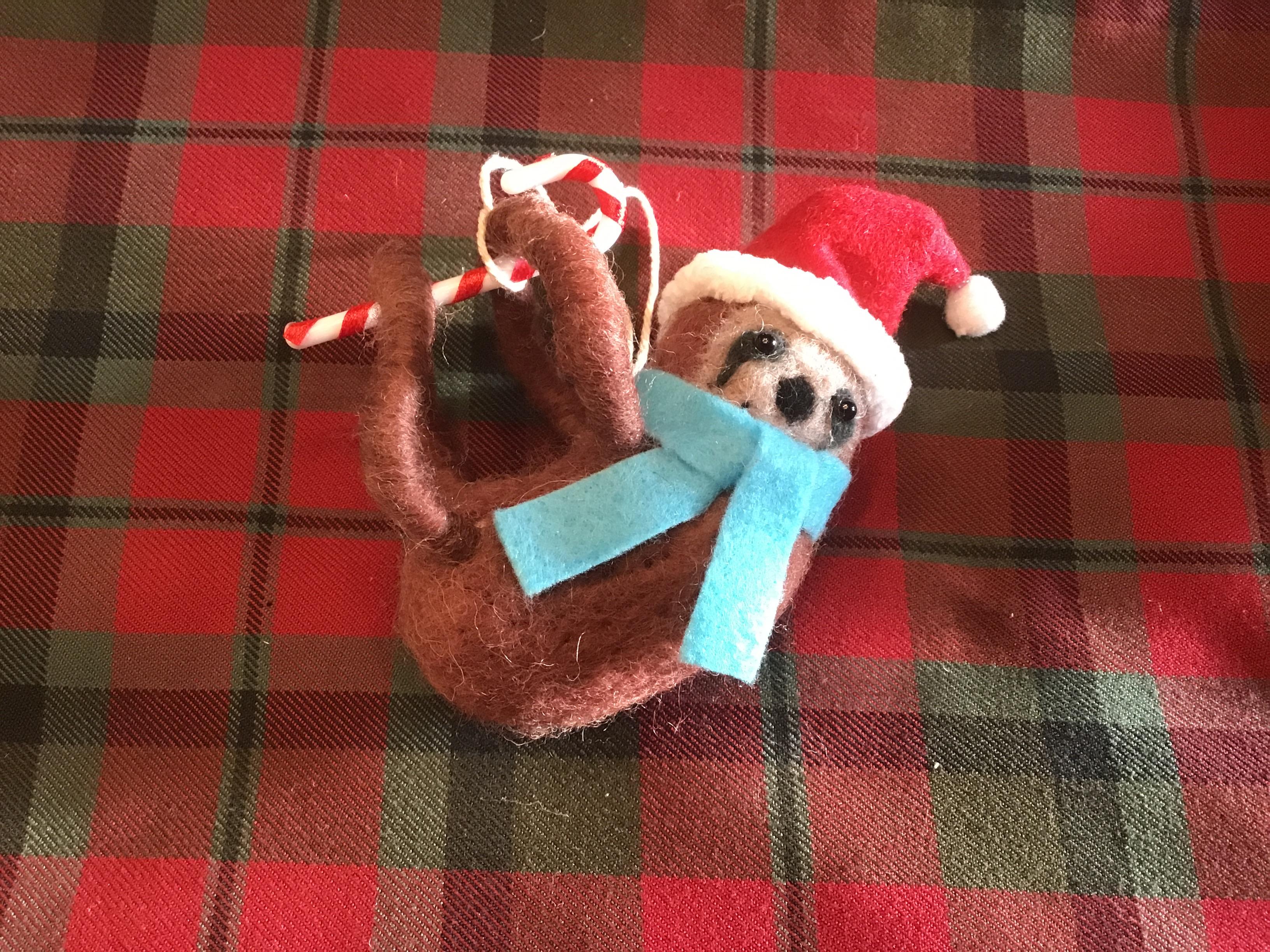 Christmas sloth