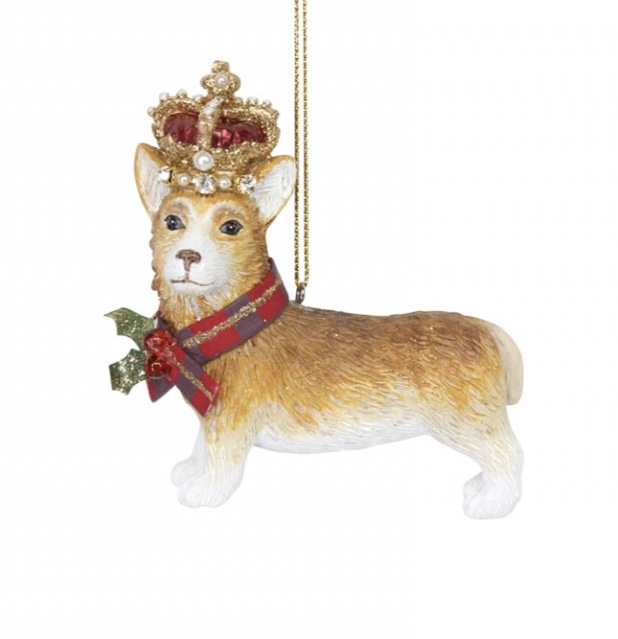 Corgi Dog with Crown