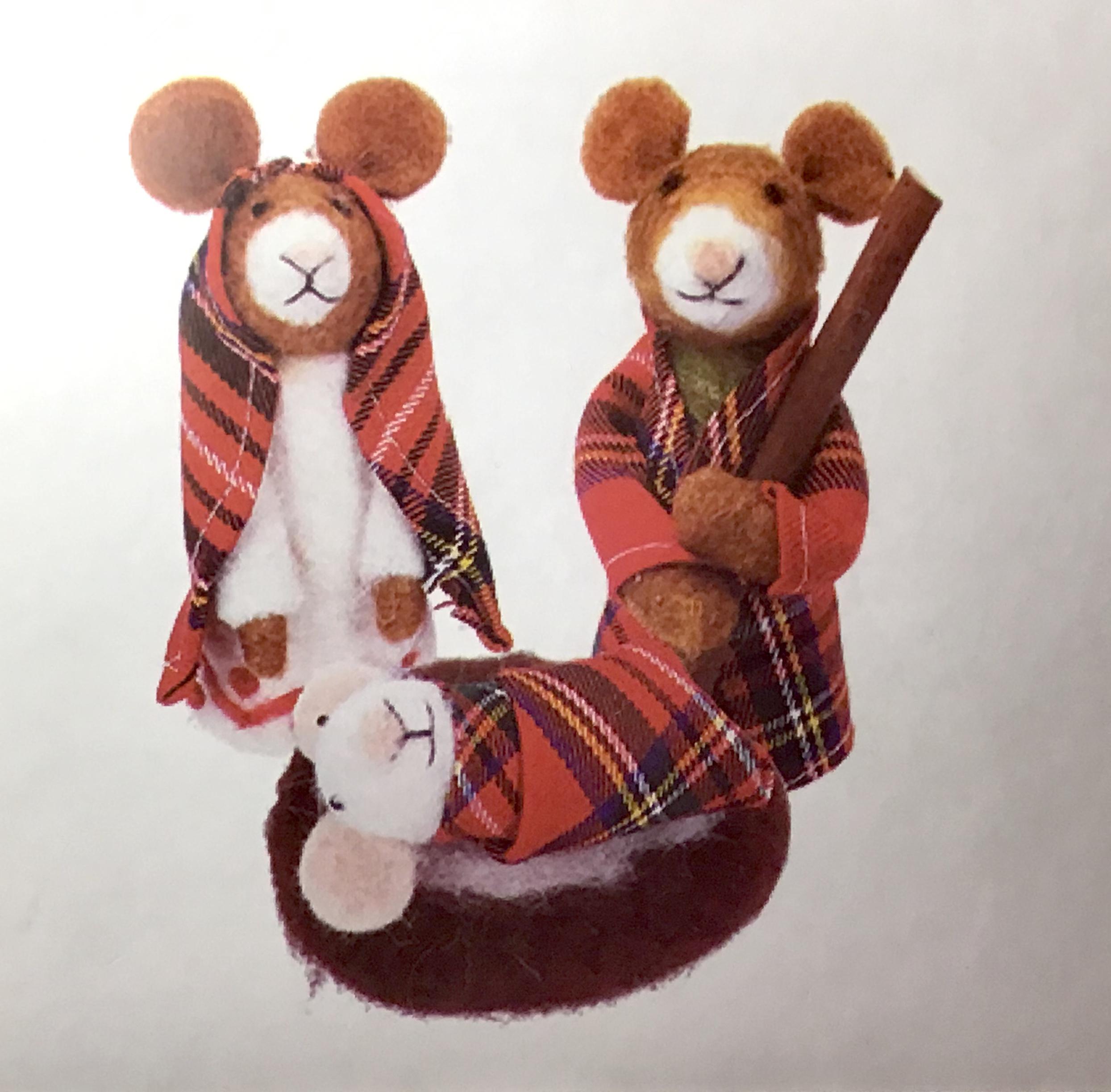 Tartan Nativity Mice