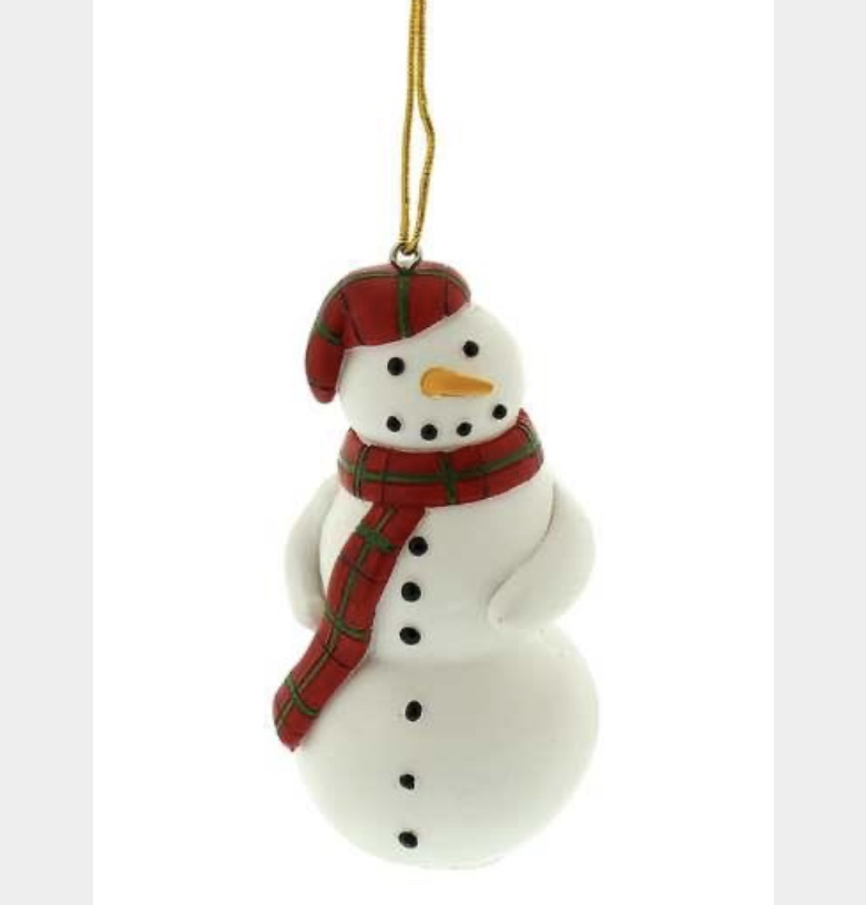 Resin snowman with scarf