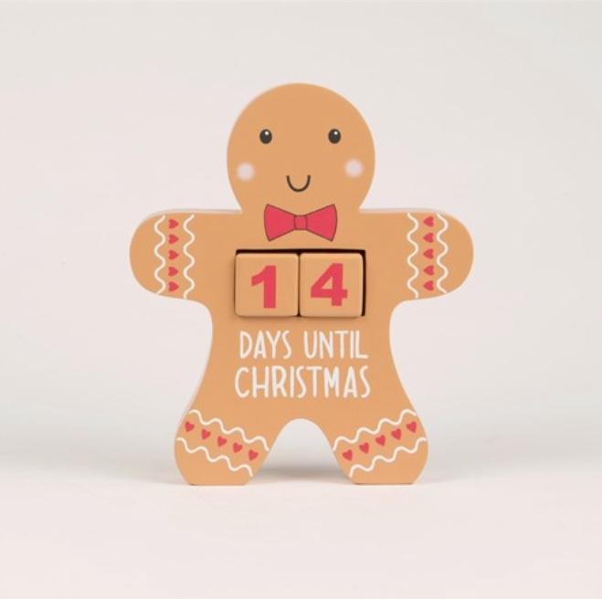Gingerbread Man Advent Countdown