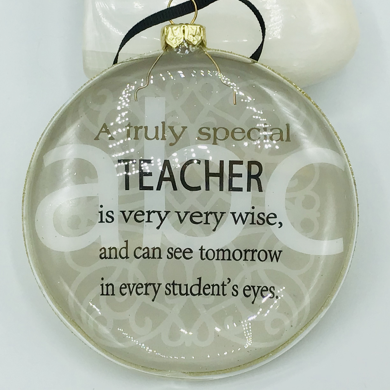 Glass Special Teacher Bauble