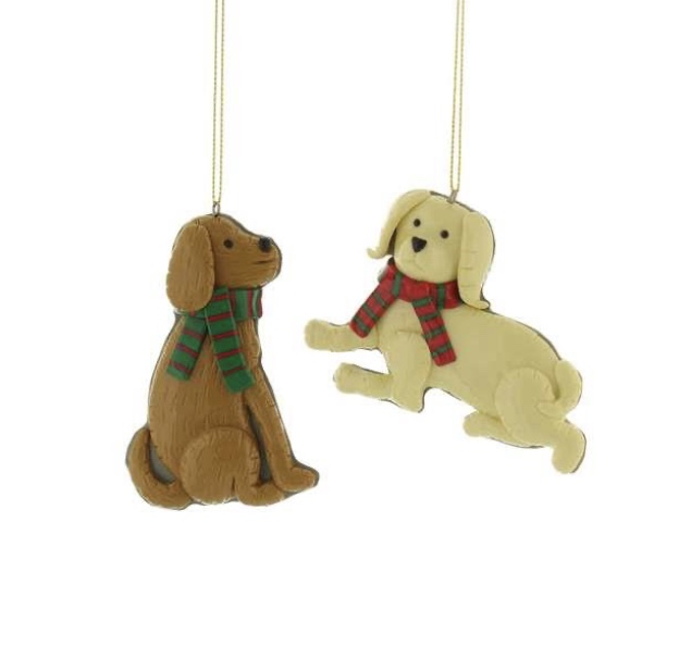Dog decorations resin