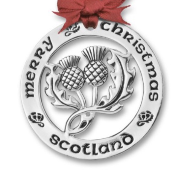 Silver Plated Scottish Thistle
