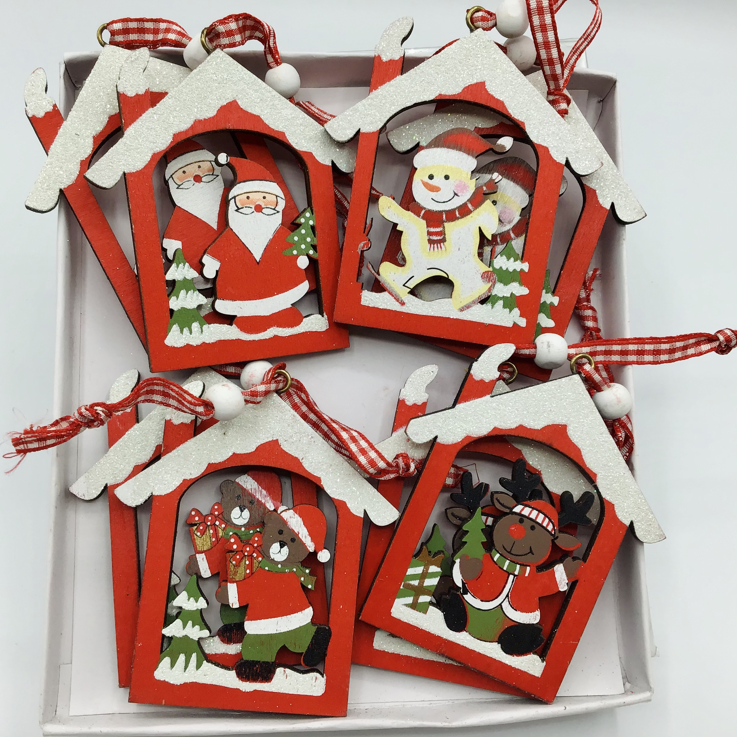 Hanging Houses - Set of 8