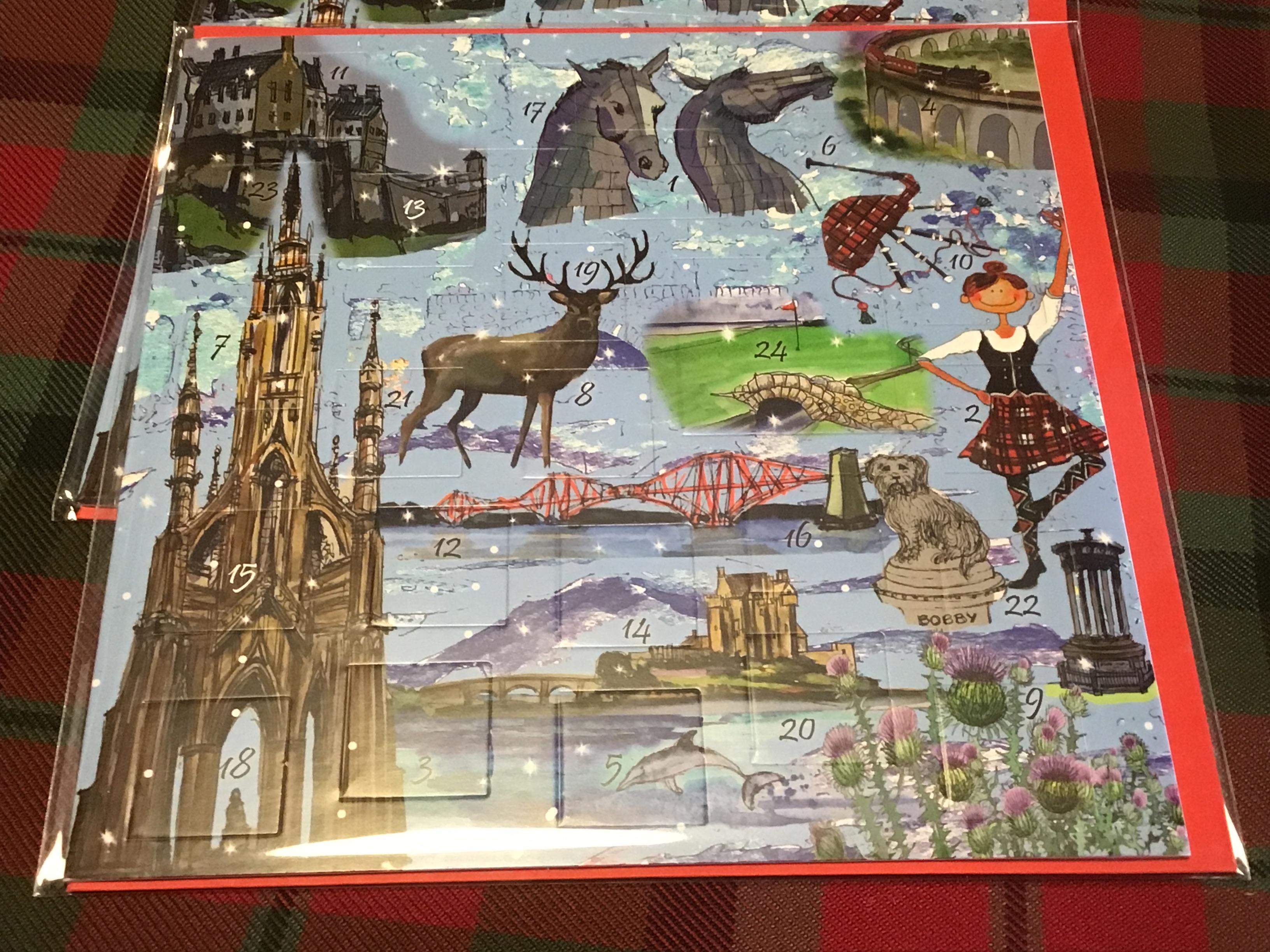 Advent Calendar Cards: Bonnie Scotland