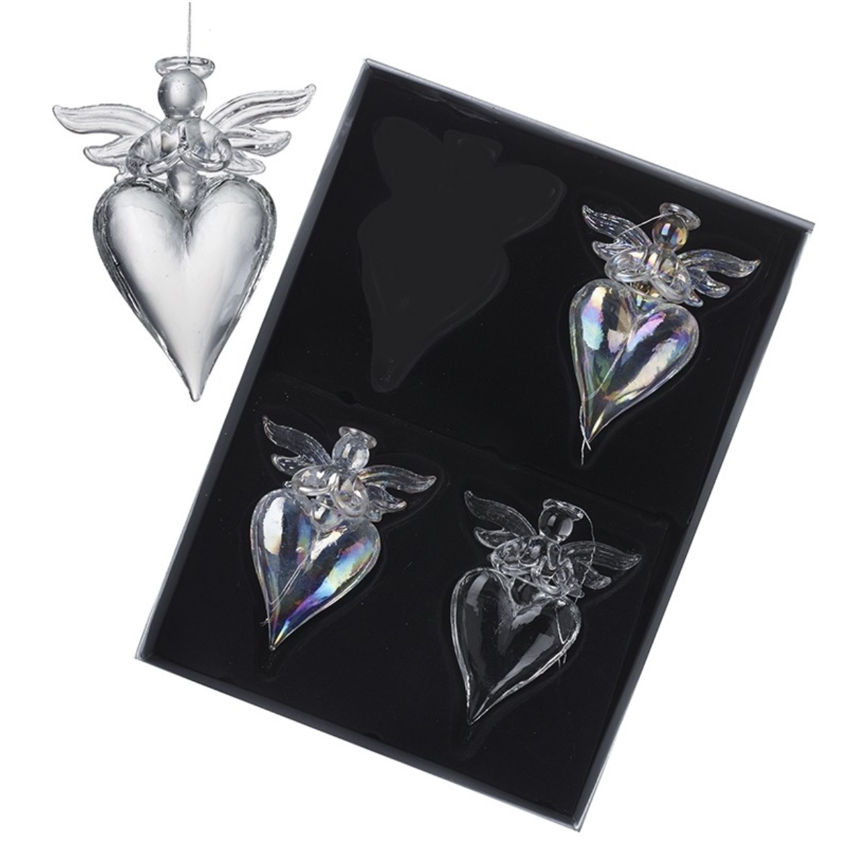 Glass Angel Hearts