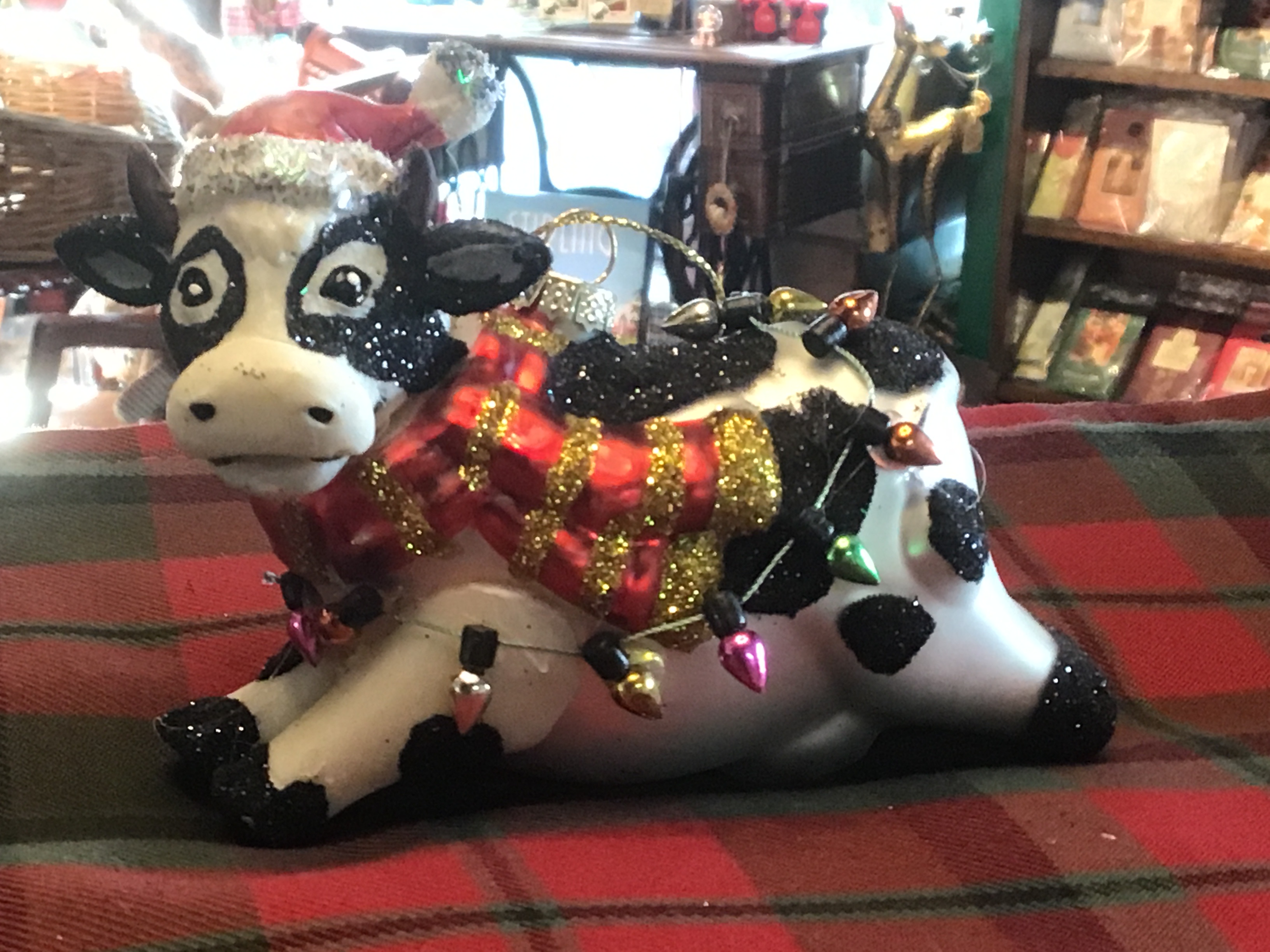 Cow Glass with lights