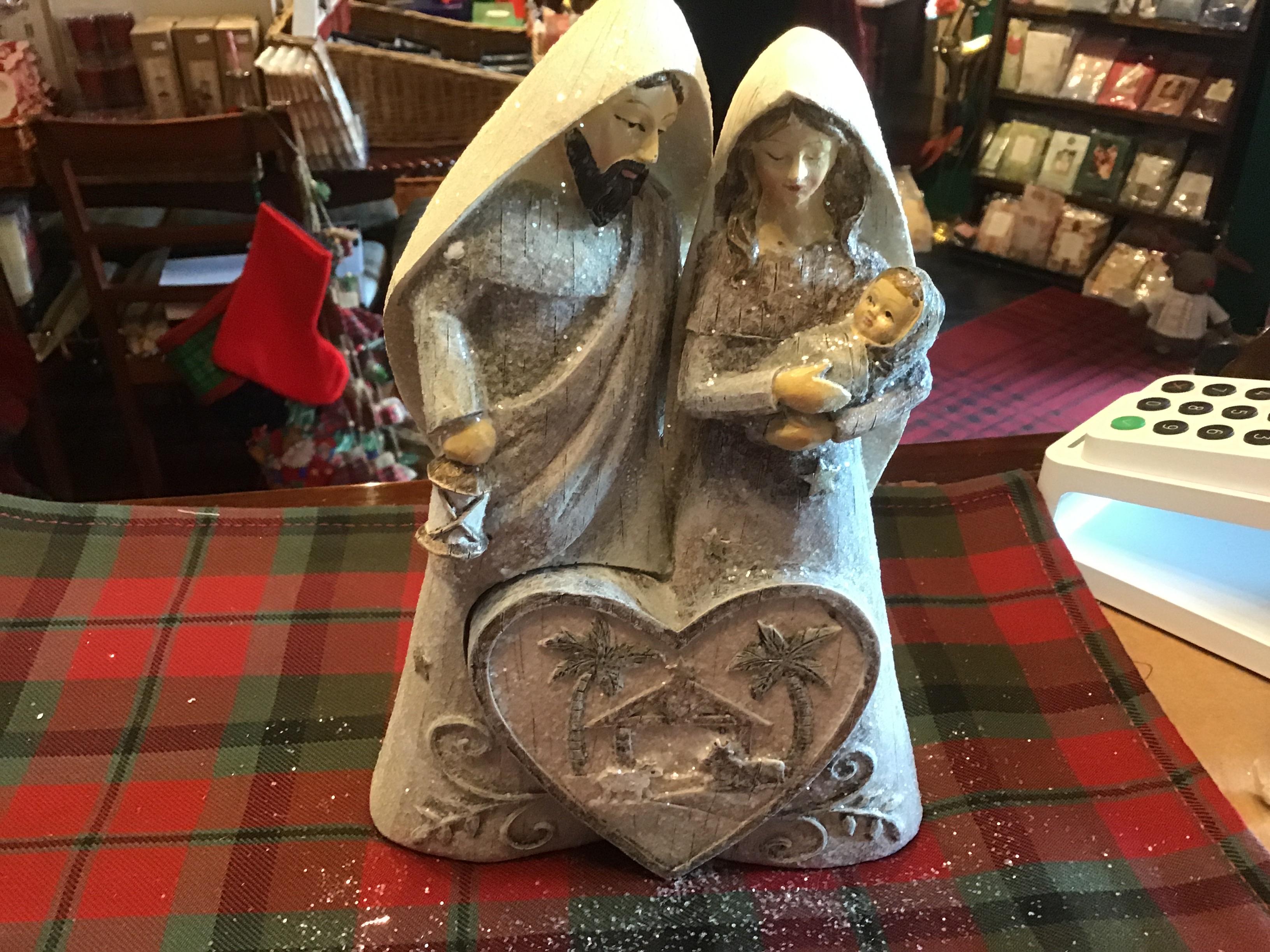 Love silver nativity