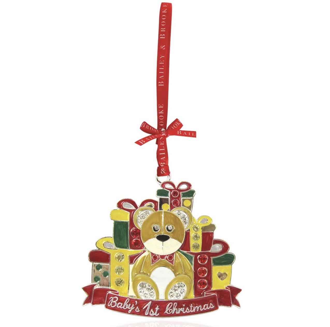 Sparkle Teddy Bear - Baby's First Christmas