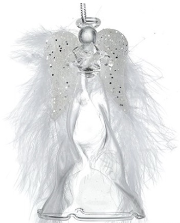 Glass Angel with feather wings