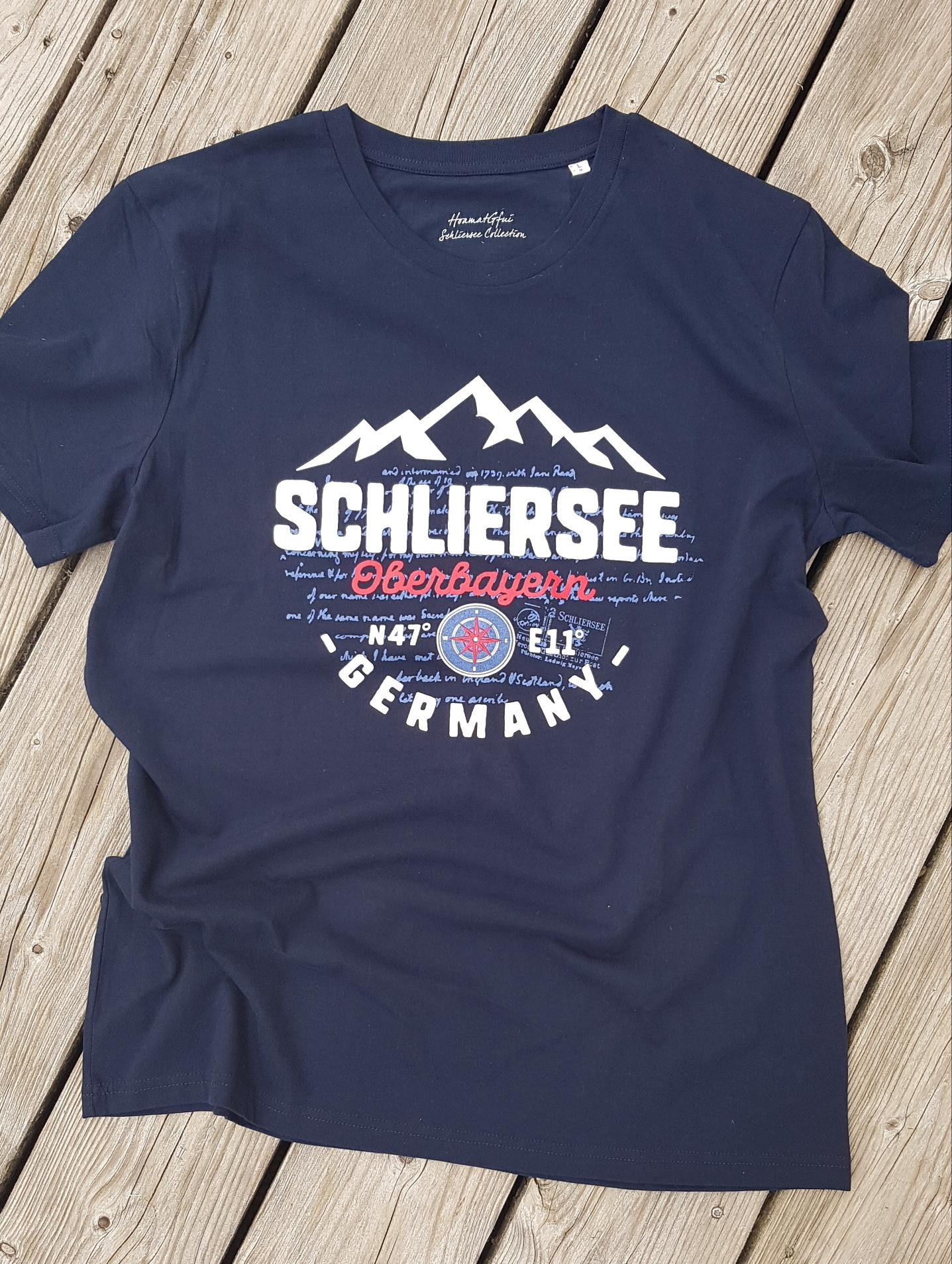 Schliersee N47° E11°  T-Shirts Herren