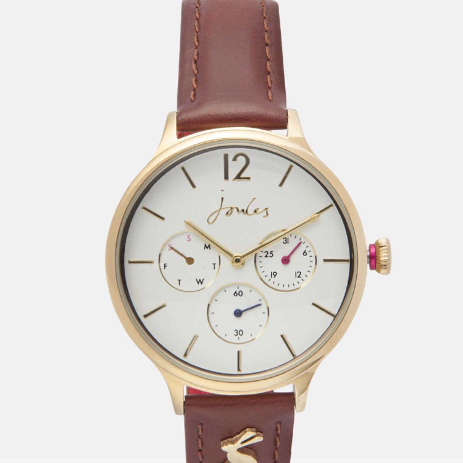 Joules Darcy ladies leather strap watch