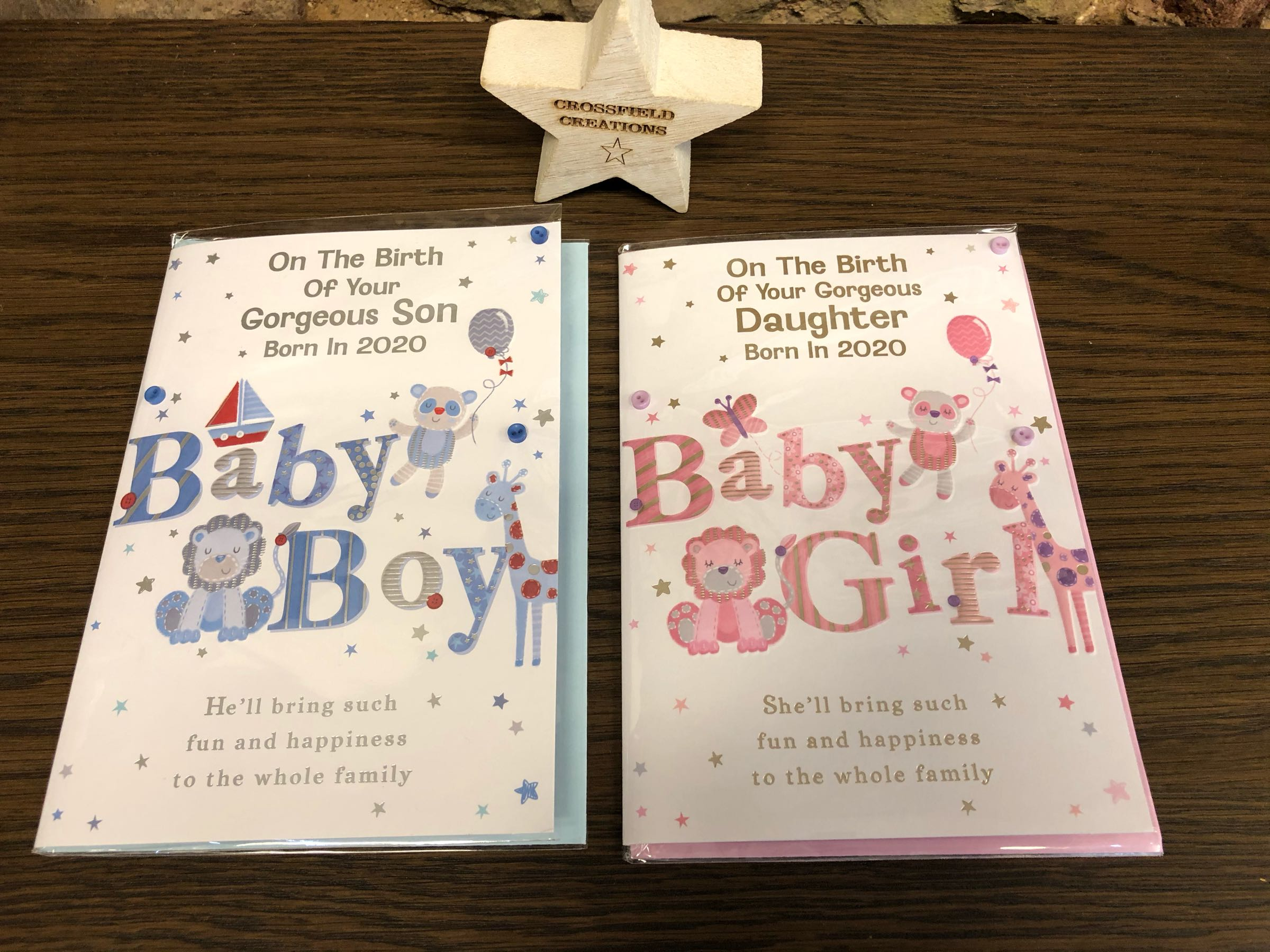New Baby Greetings Cards - Born in 2020