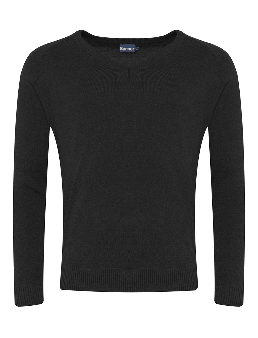V Neck School Jumper