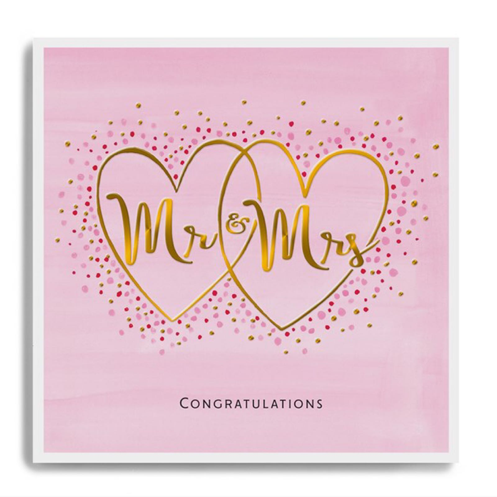 Janie Wilson Mr and Mrs heart card