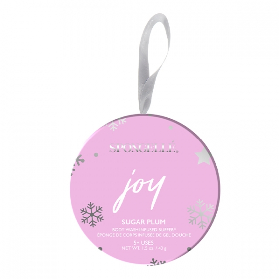 Spongelle Joy Holiday Ornament Sugar Plum